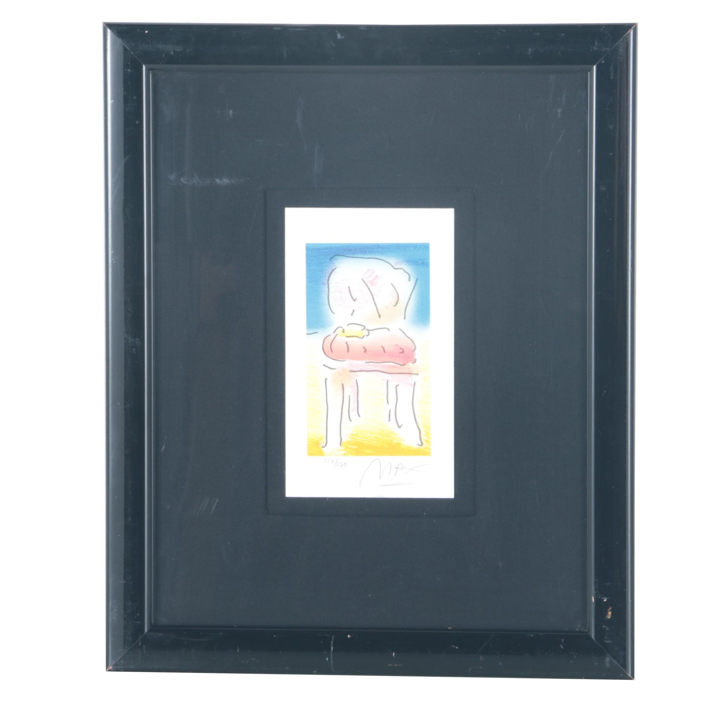 "Peter Max Lithograph ""Old Chair"""