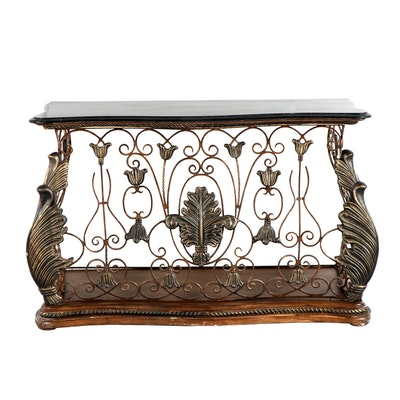Neoclassical Style Console Table - Online Furniture Auctions Vintage Furniture Auction Antique
