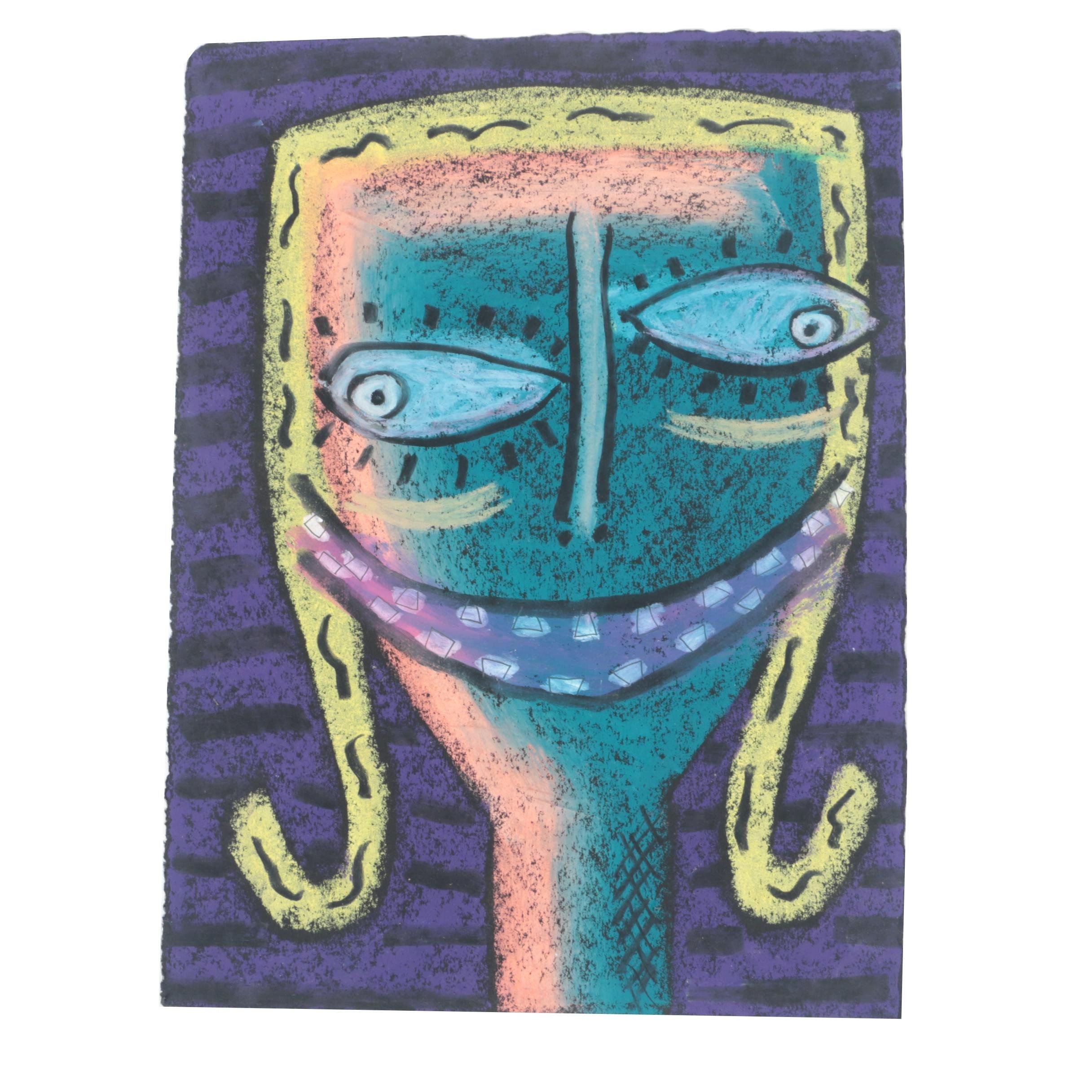 Merle Rosen Pastel Drawing