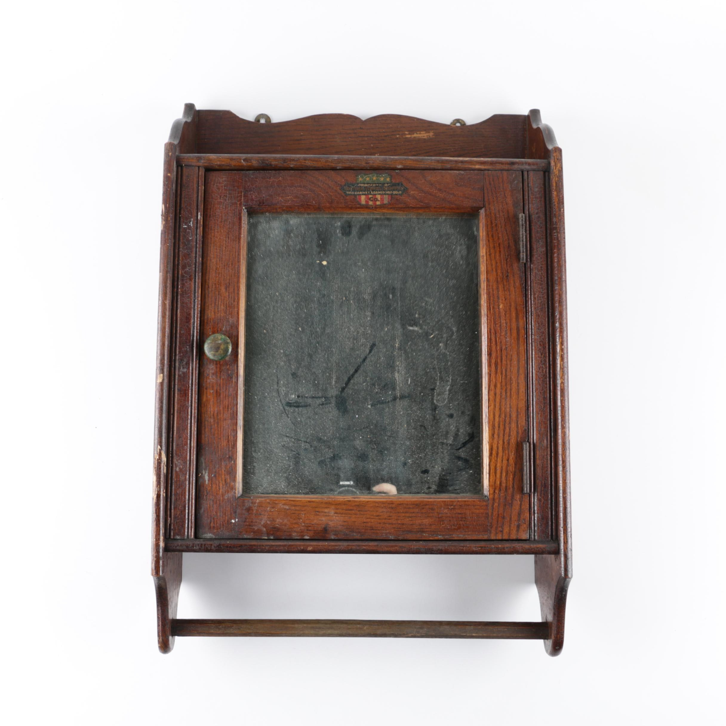 United Towel Supply Co. Mirrored Wood Wall Cabinet