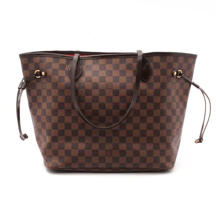 ef295fd26d8d Louis Vuitton Neverfull MM Damier Ebene Canvas Tote   EBTH