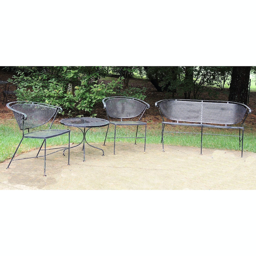 Super Vintage Patio Chair And Bench Set Ocoug Best Dining Table And Chair Ideas Images Ocougorg