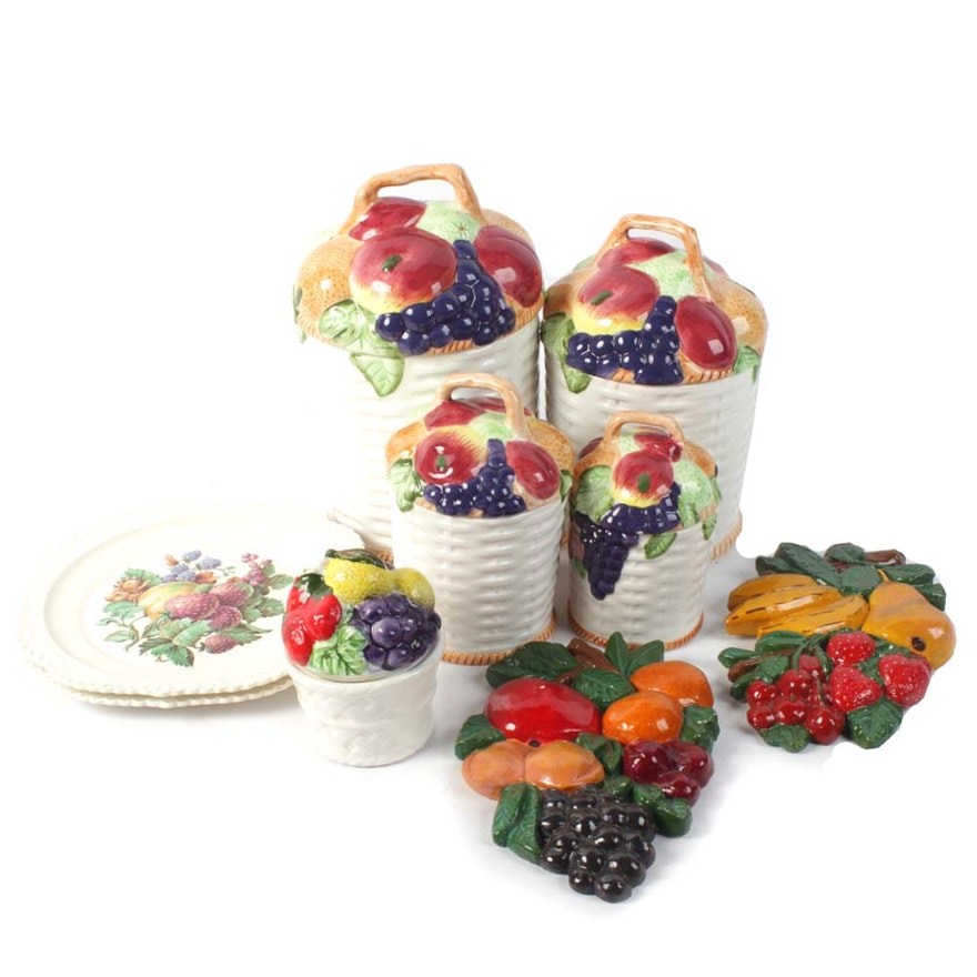 Ceramic Fruit Inspired Kitchen Decor Ebth