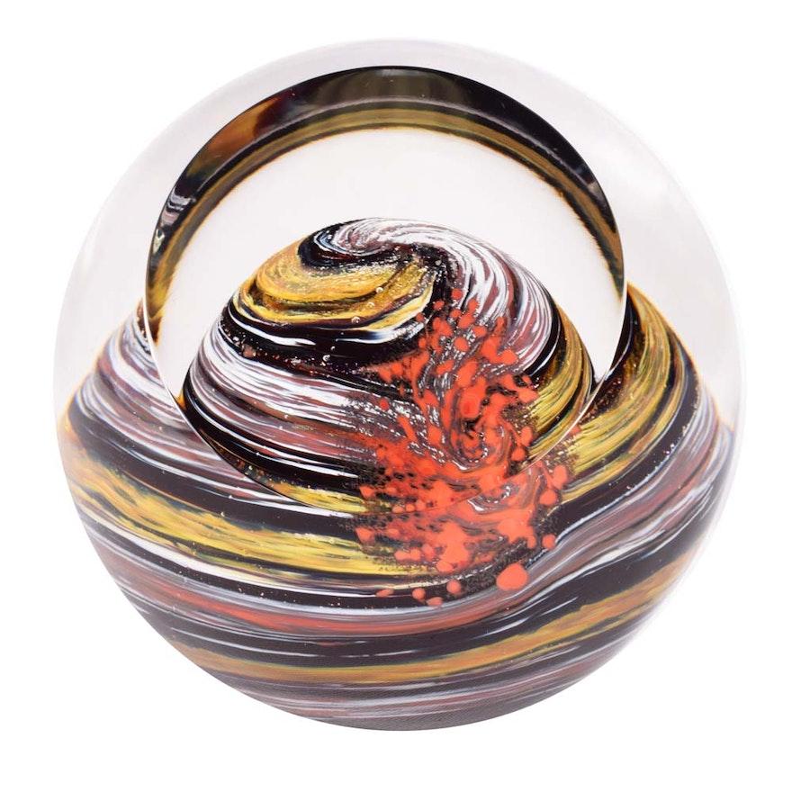 glass eye studio jupiter celestial series art glass paperweight - Glass Eye Studio