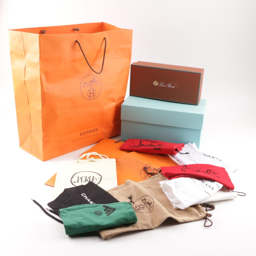5910af88b875 Designer Dust Covers, Boxes and Bags including Hermès, Jimmy Choo and Prada  : EBTH