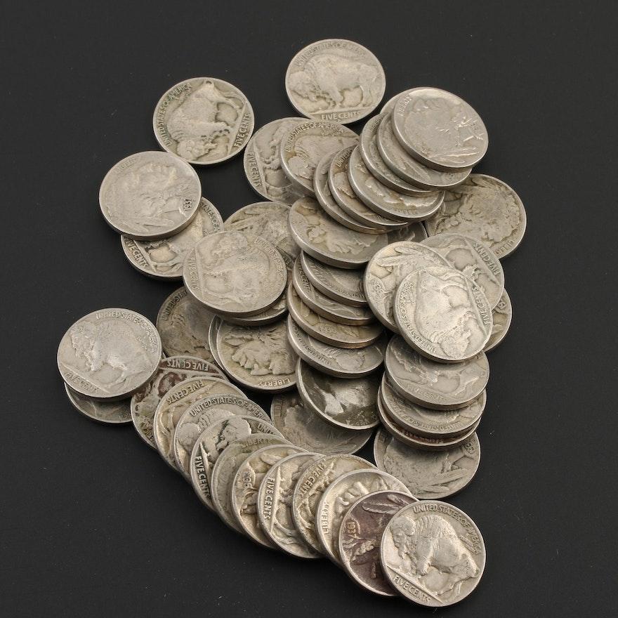 Fifty Buffalo Nickels 1928-1937