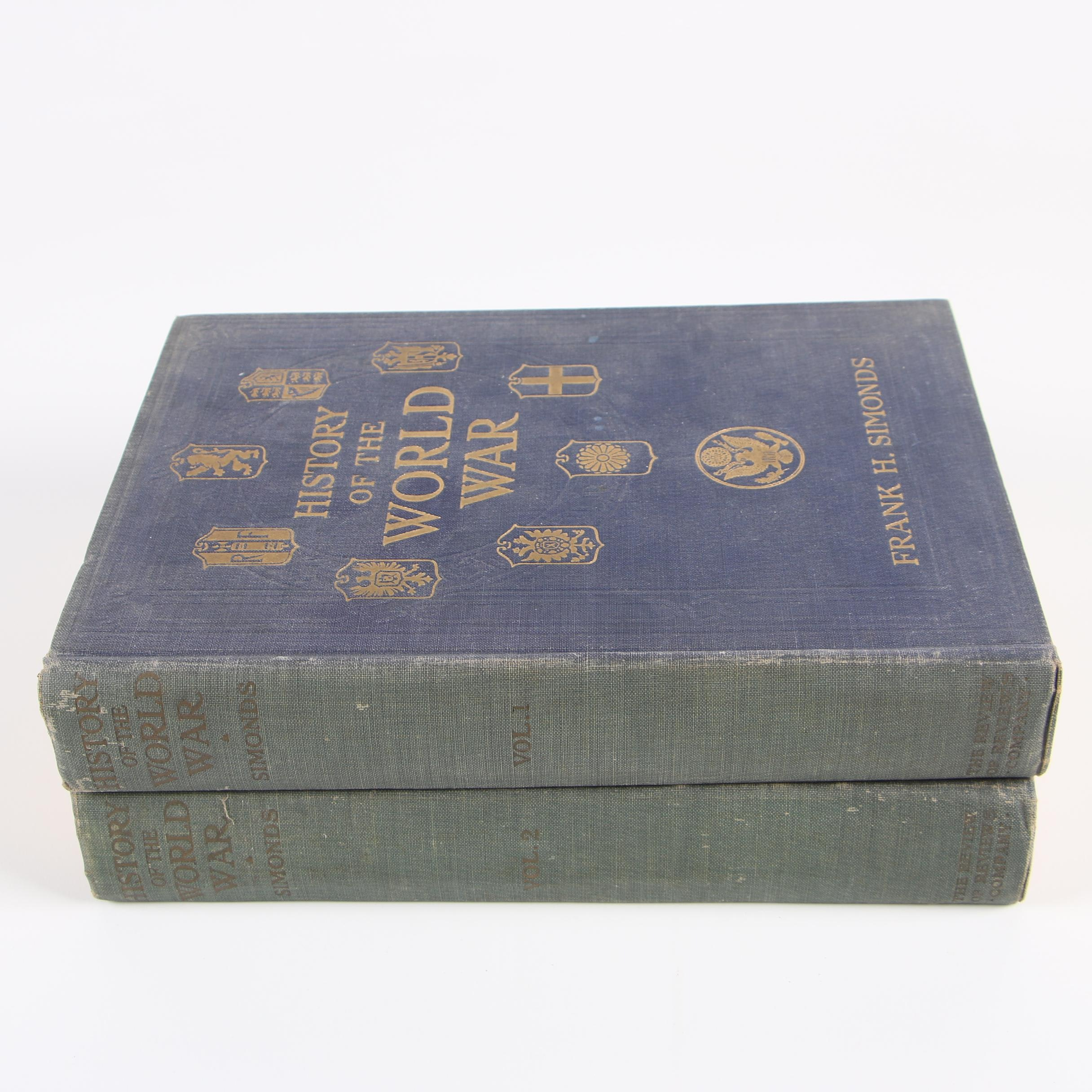 """1917 """"History of the World War"""" Volumes I-II by Frank H. Simonds"""