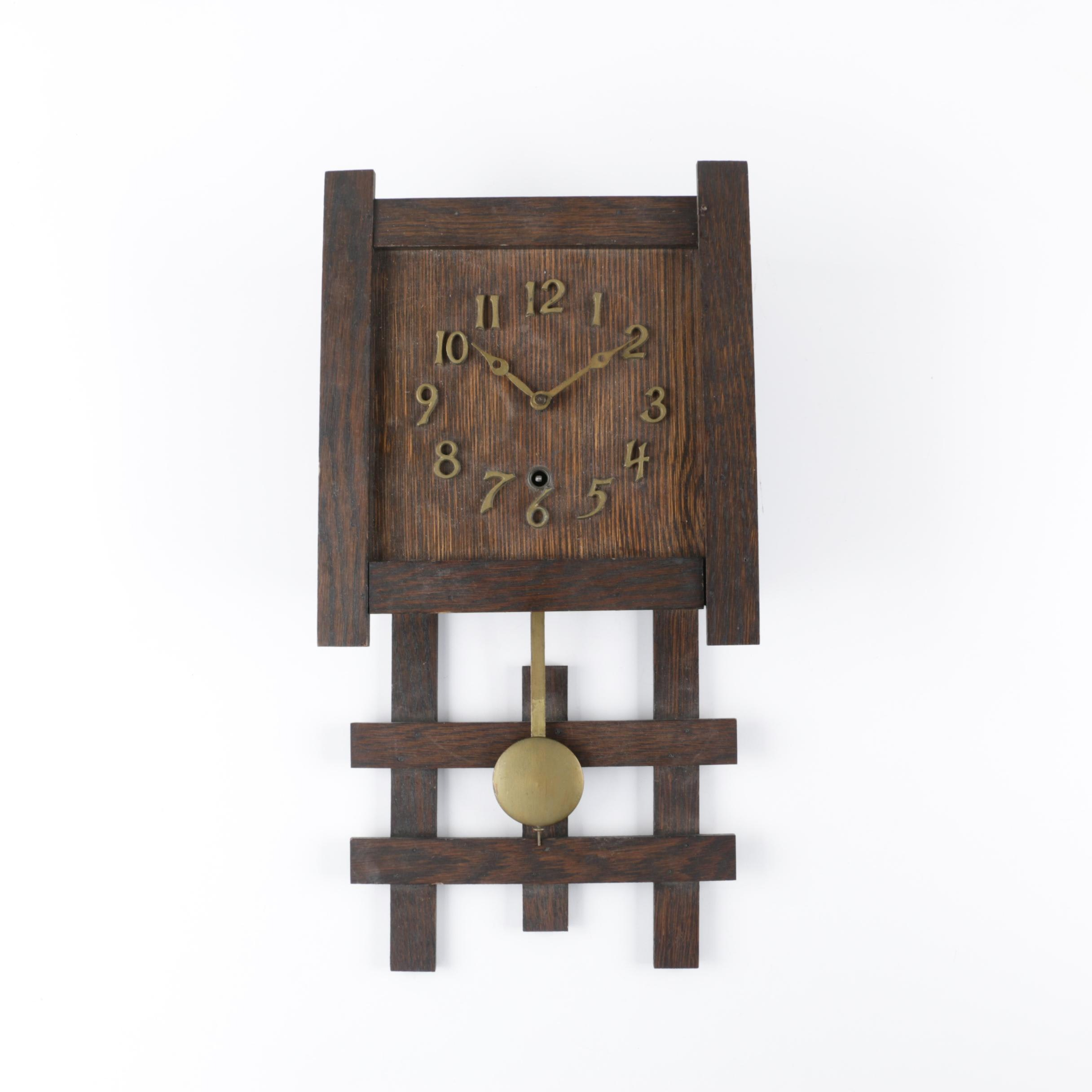 Sessions Mission Style Wooden Wall Clock