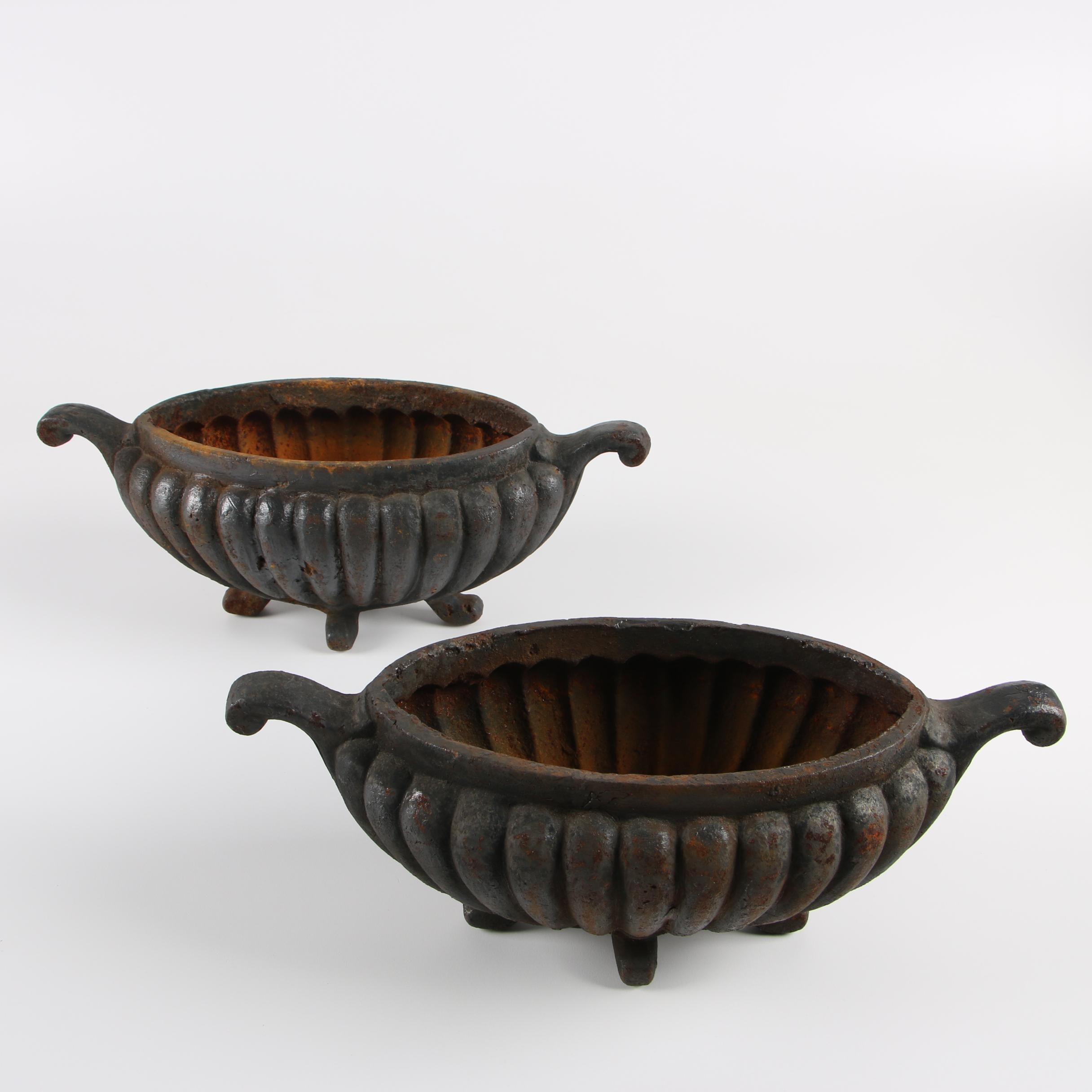 Victorian Cast Iron Planters
