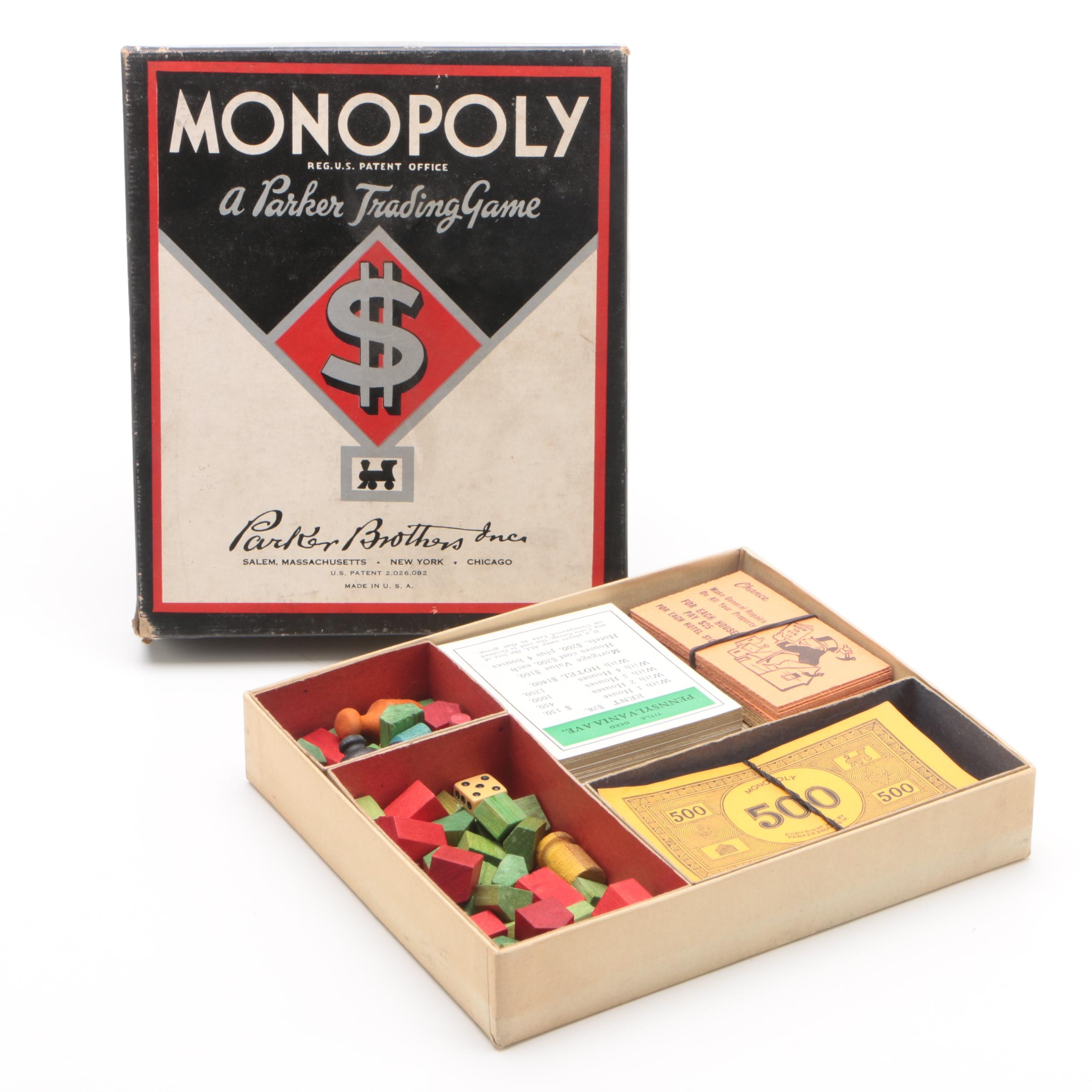 1940s Monopoly Board Game by Parker Brothers