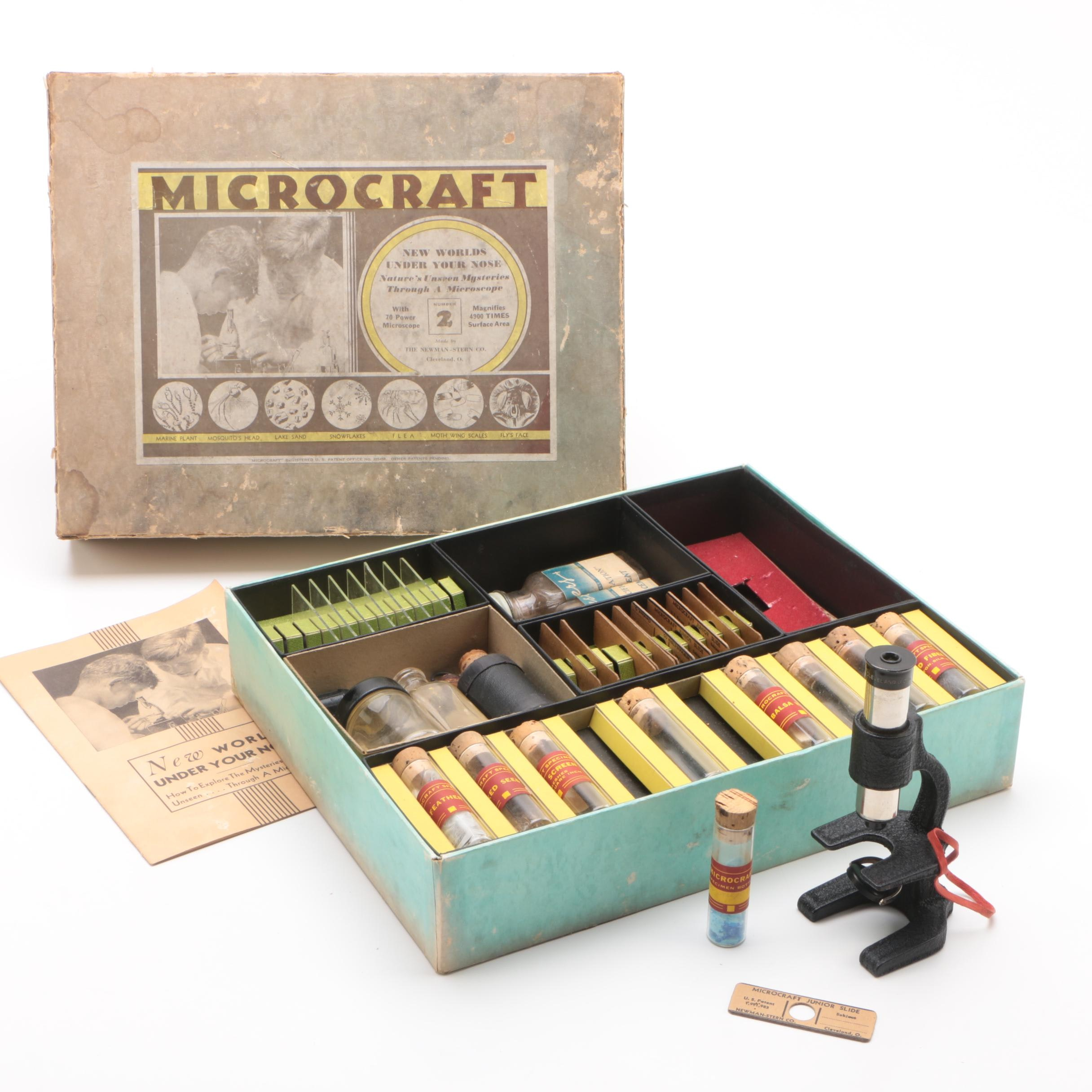 Microcraft #2 Microscope Lab Kit by The Newman-Stern Co., Late 1950s