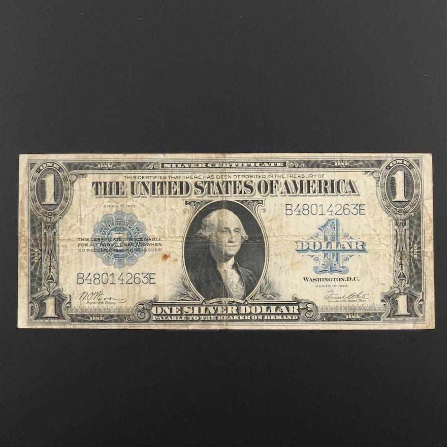 1923 U.S. $1 Silver Certificate with Blue Seal : EBTH