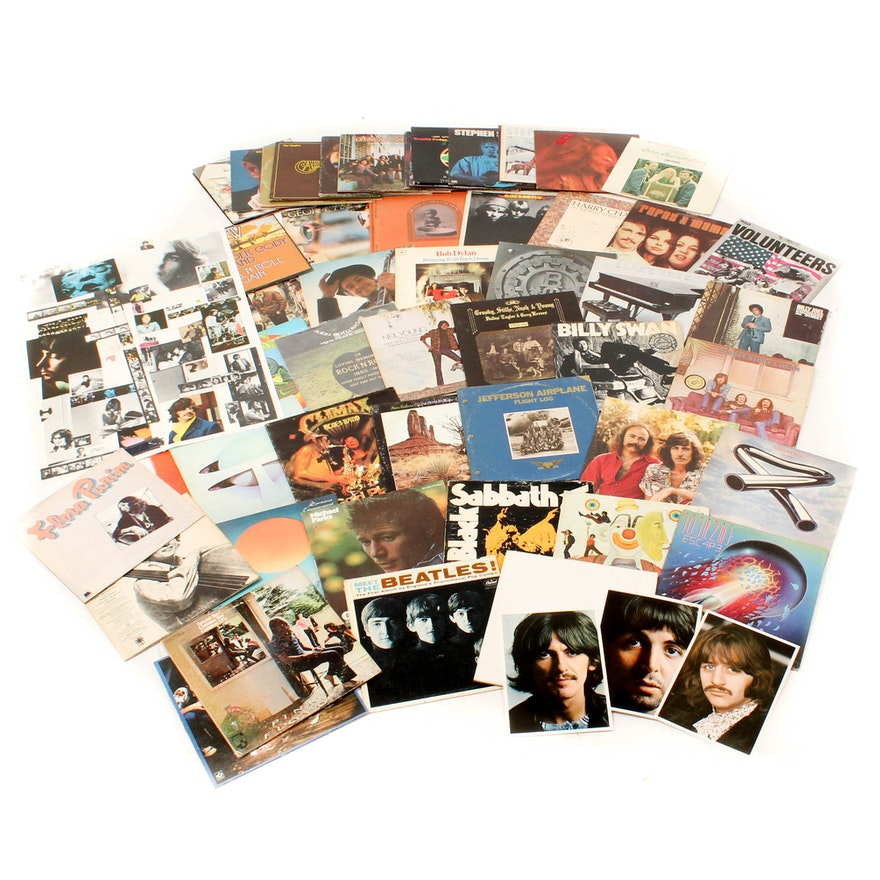 Classic Rock Records Including The Beatles