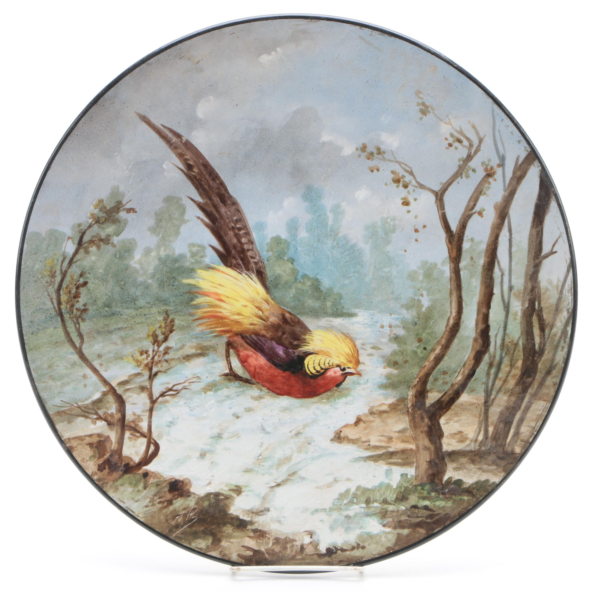 Antique Hand-Painted Paris Porcelain Platter