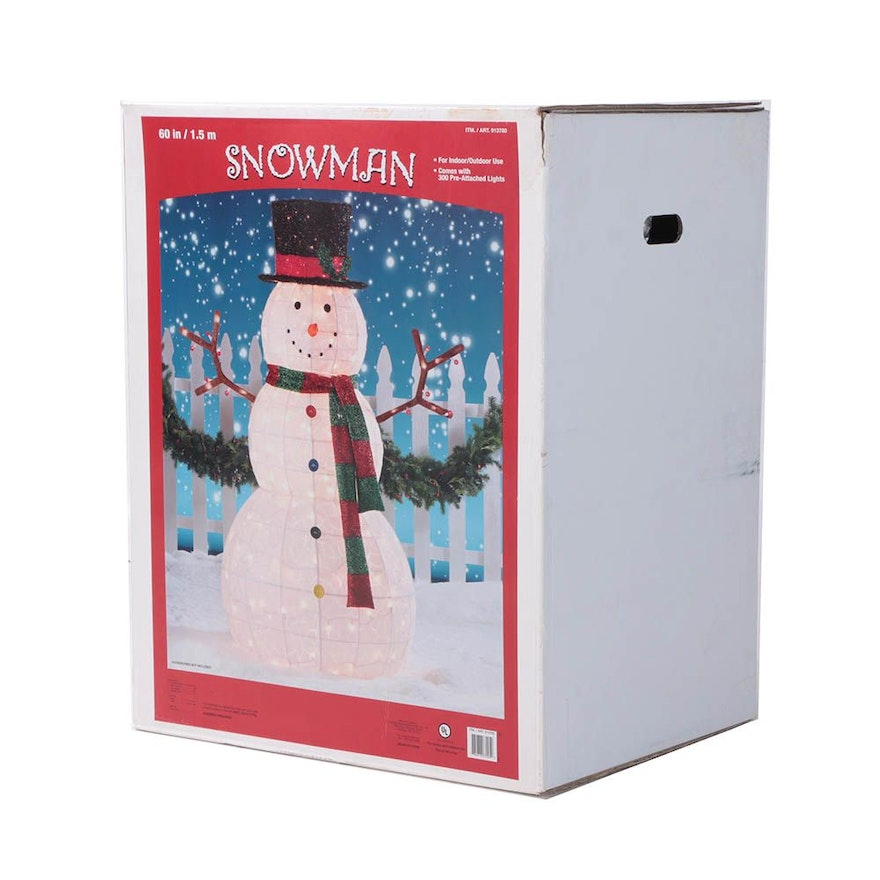 Indoor and Outdoor Lighted Snowman Decoration ... - Indoor And Outdoor Lighted Snowman Decoration : EBTH