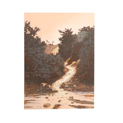 "John Bowman Oil Painting ""Shining Path"""