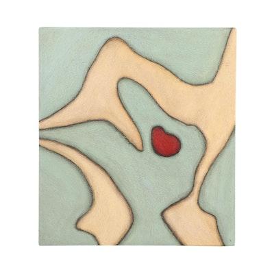 """Toby Kahn 1992 Acrylic Painting """"Cadha"""""""