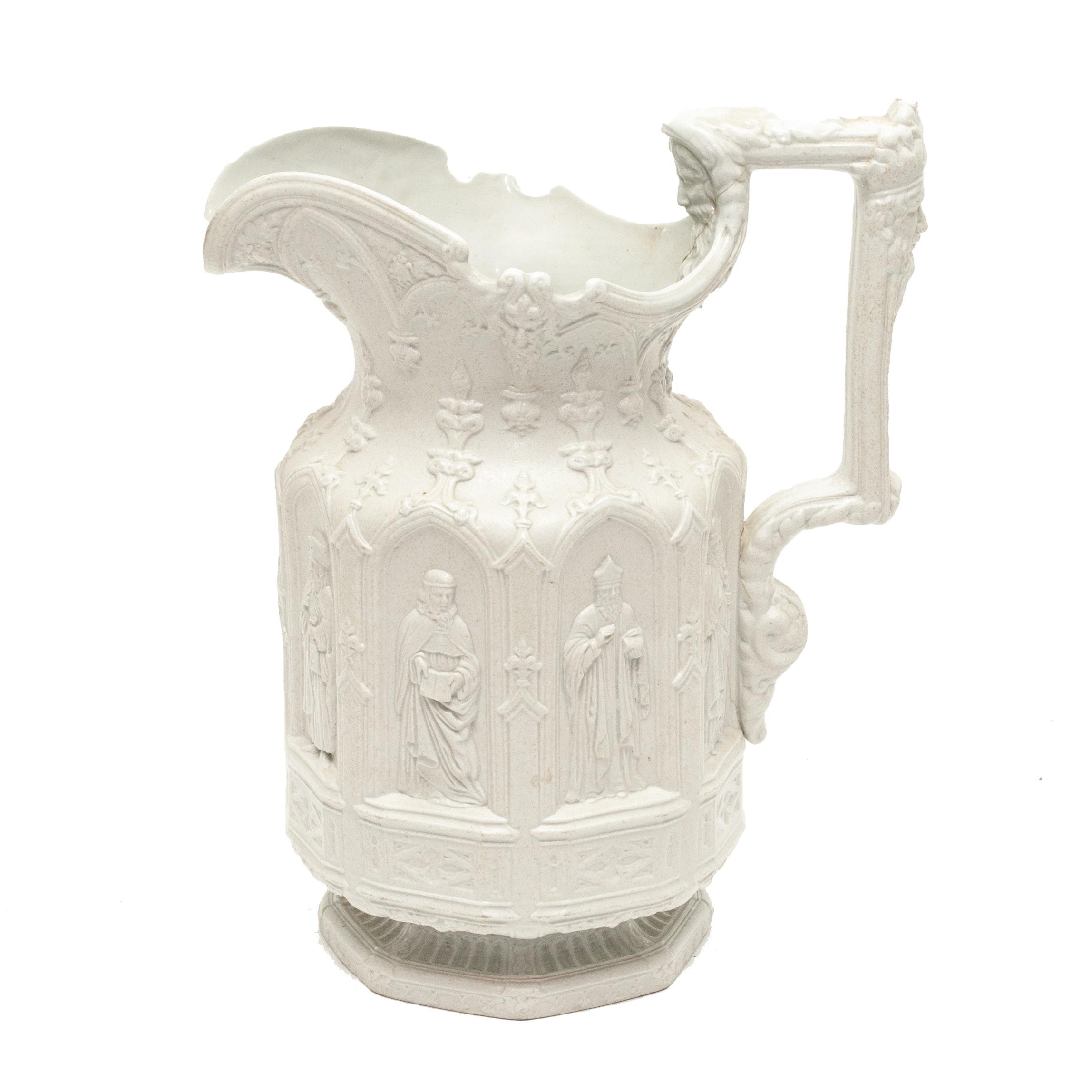 Antique English Charles Meigh Apostle Stoneware Jug