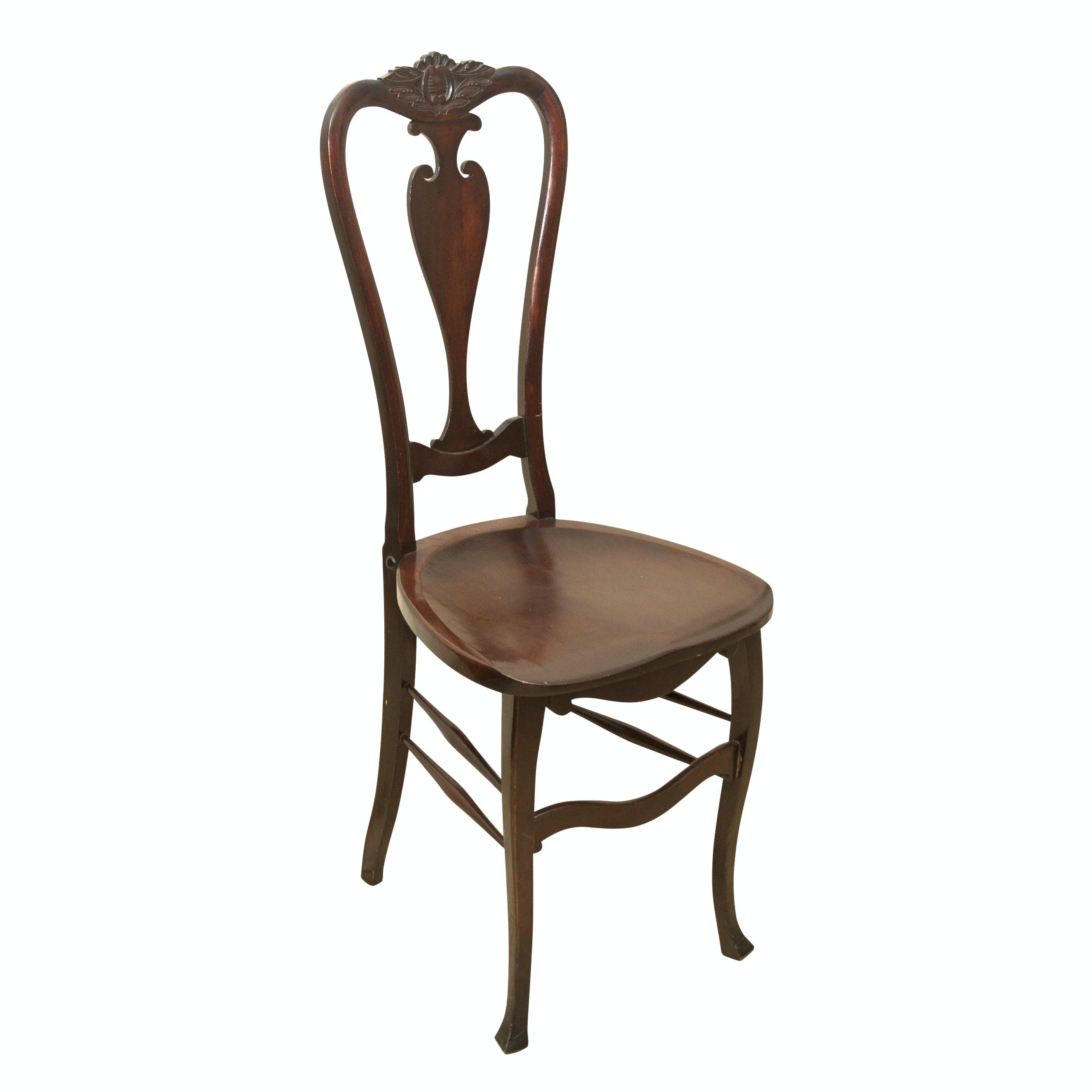 Louis XV Style Mahogany Hall Chair, Late 19th Century