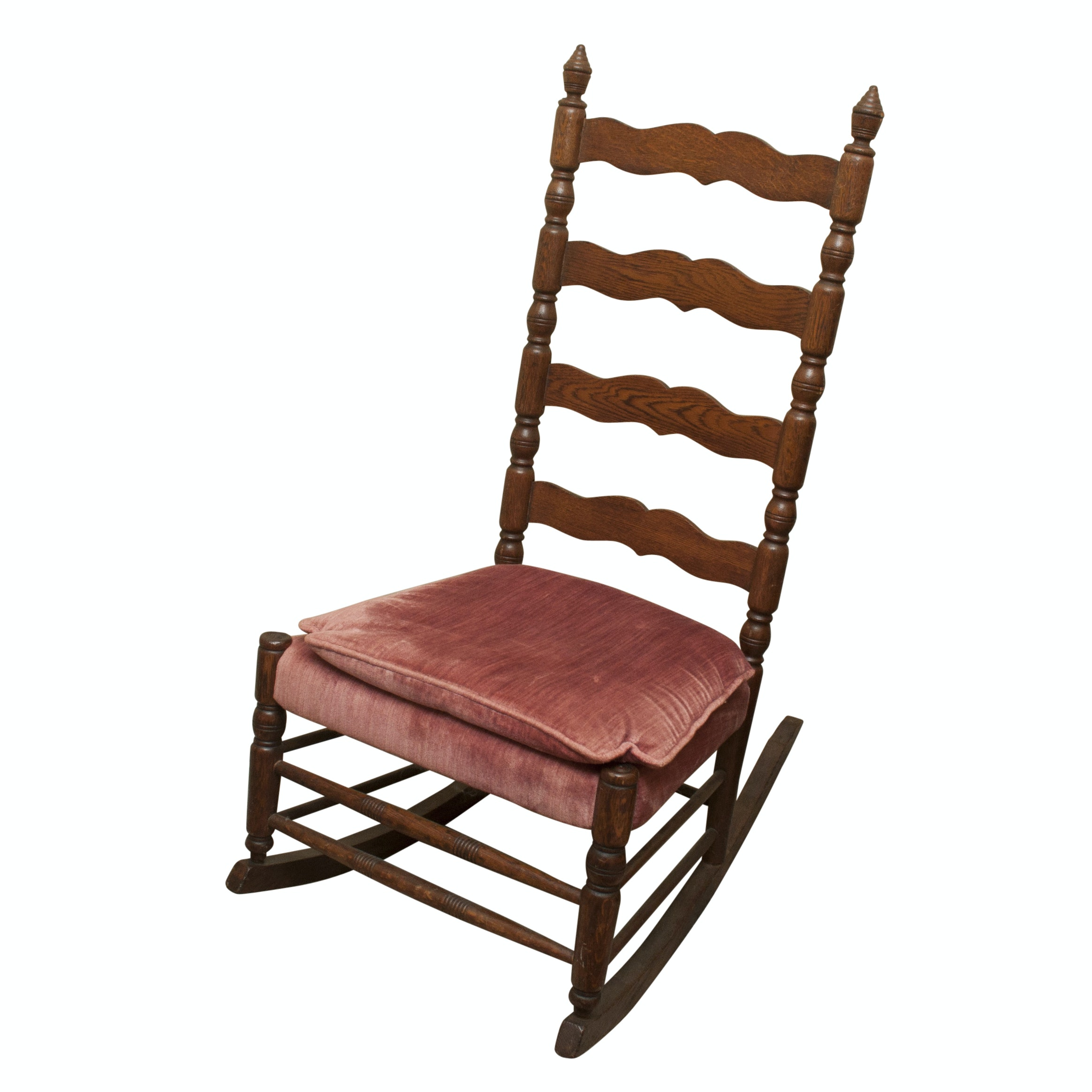 Federal Style Oak Rocking Chair, Early 20th Century