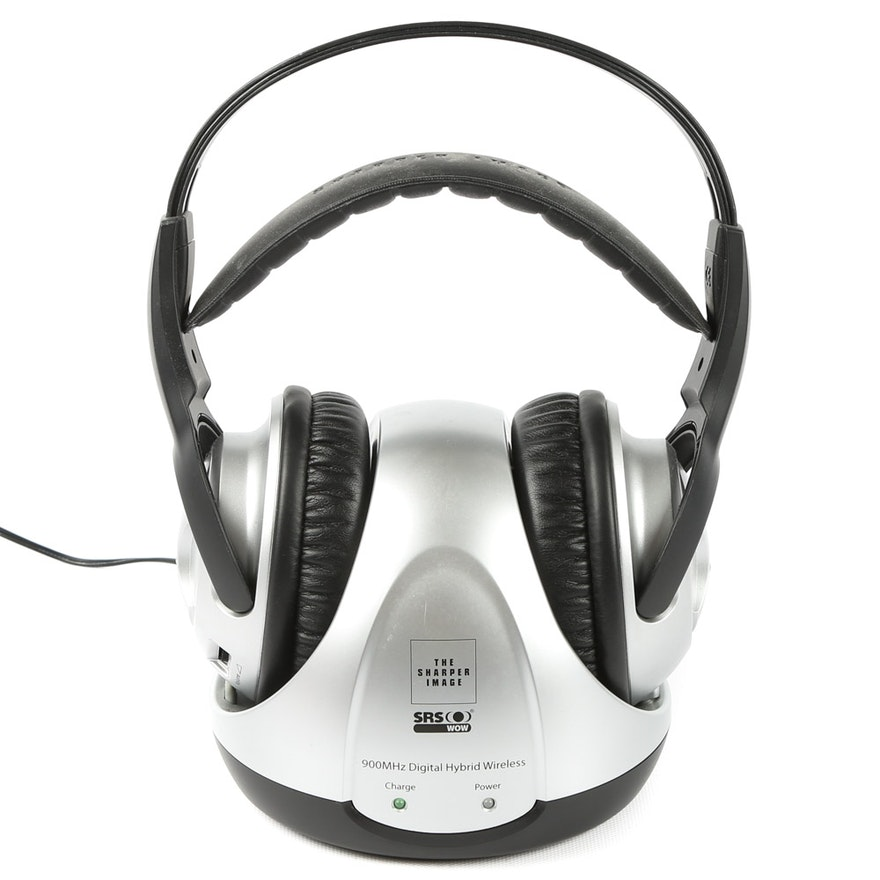 Sharper Image Hybrid Wireless 900 Mhz Headphones Ebth