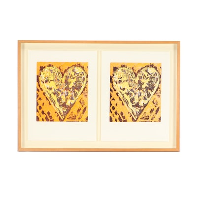 "Jim Dine Limited Edition Woodcuts ""Heart for Film Forum"""