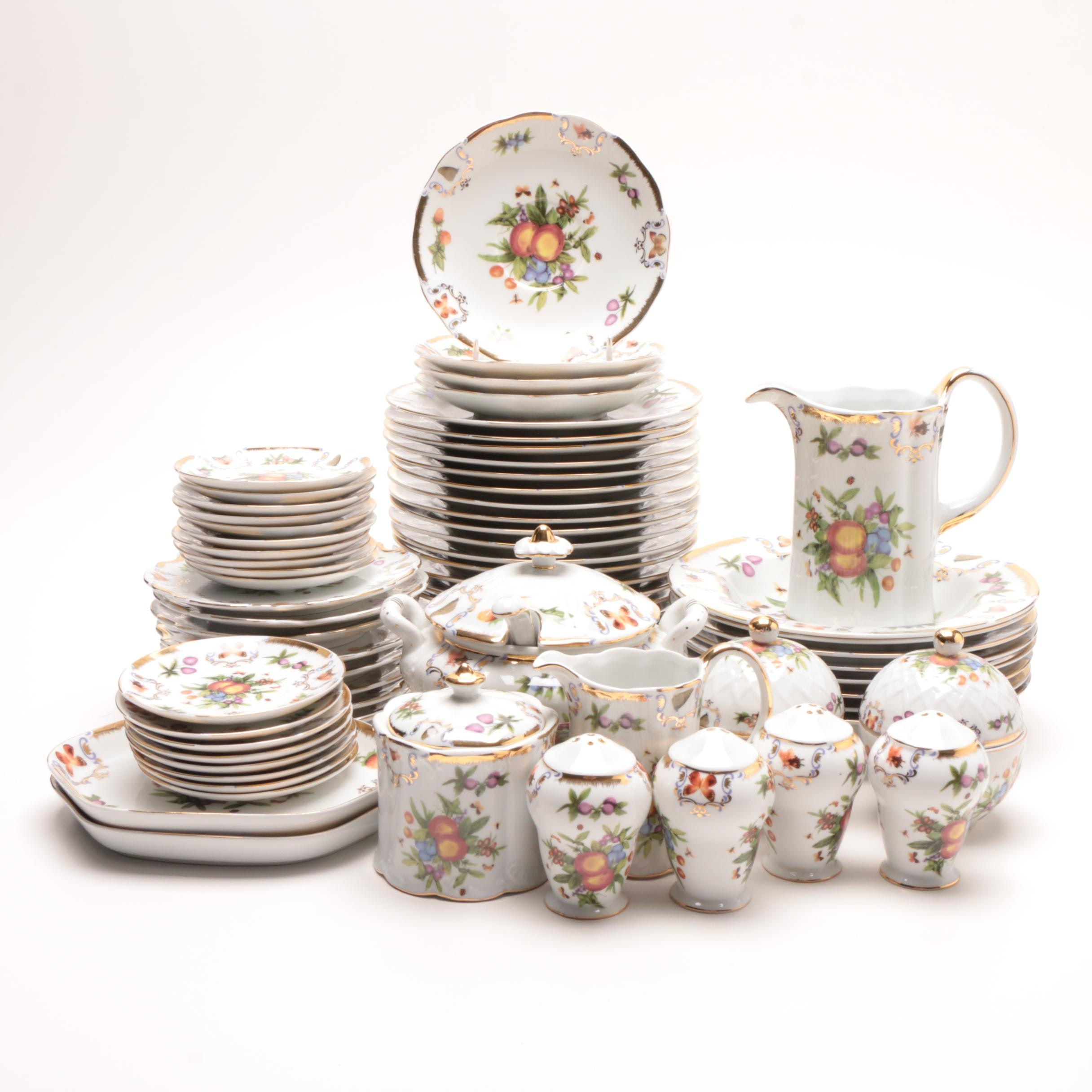 I. Godinger & Co. Fruit Themed Porcelain Dinnerware