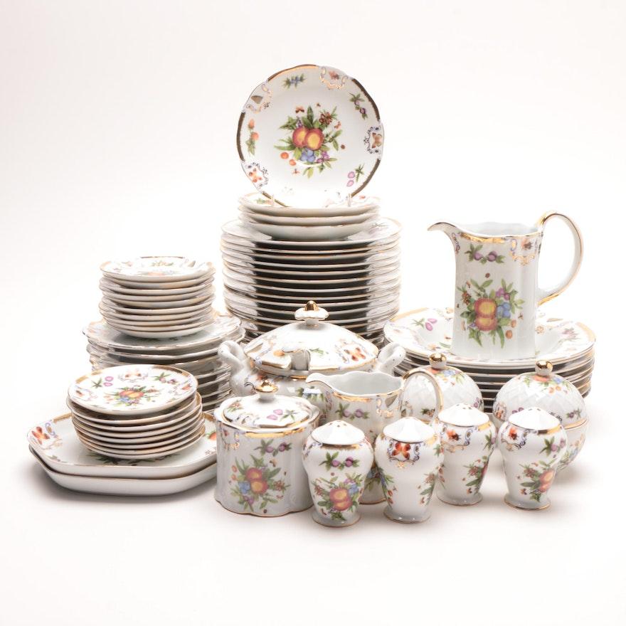 I. Godinger & Co. Fruit Themed Porcelain Dinnerware