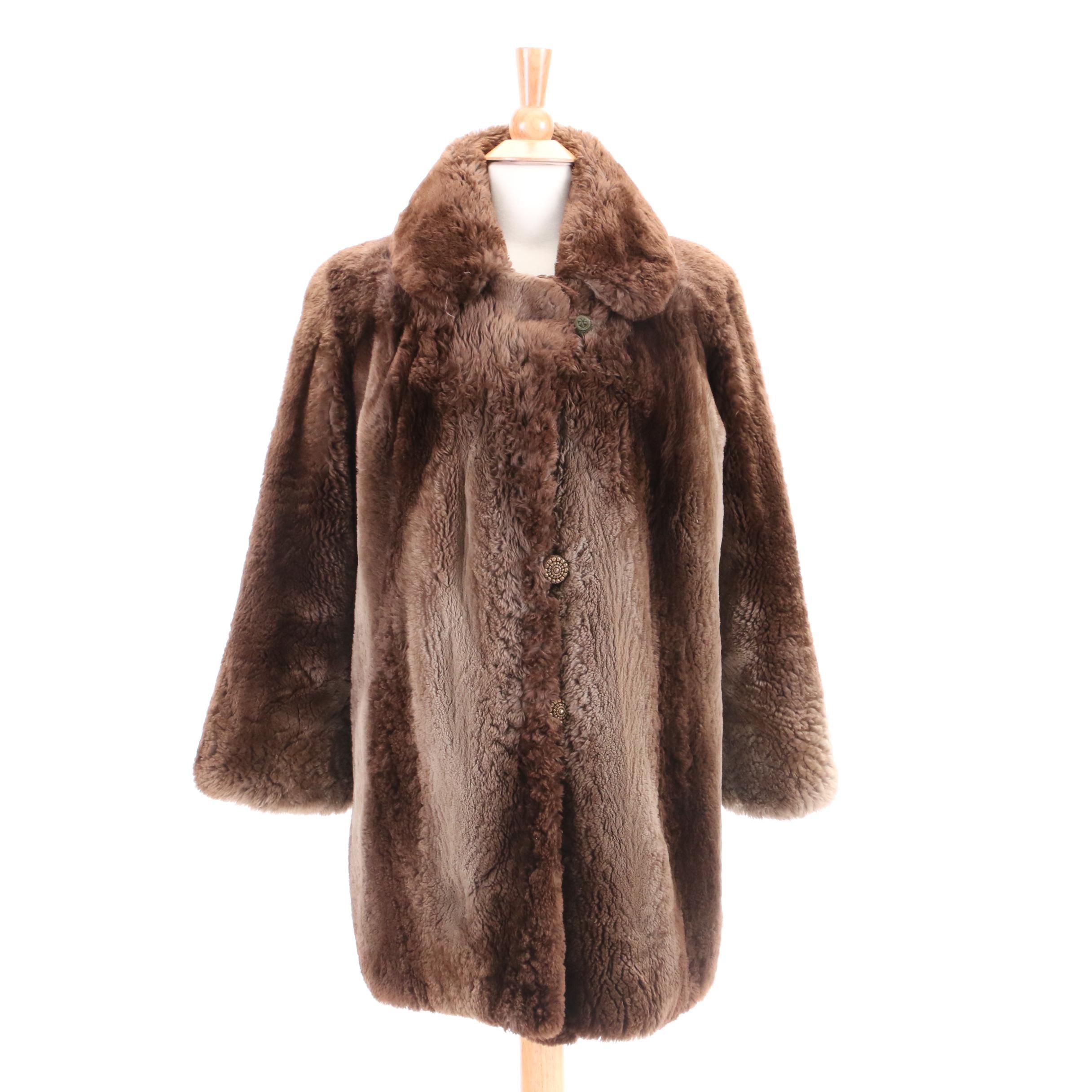 Circa 1960s Vintage Levine & Rosenberg Sheared Beaver Fur Coat