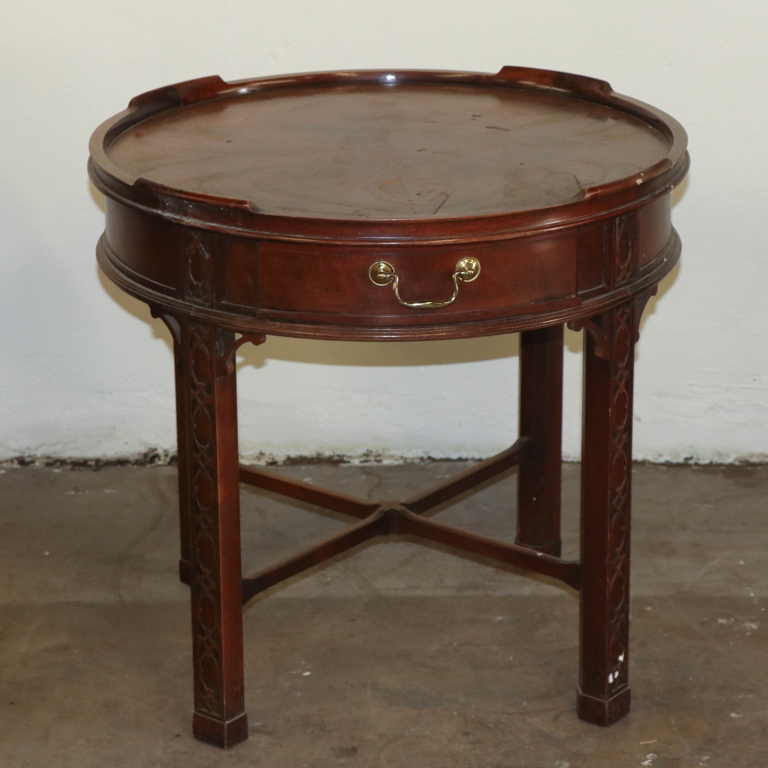 Chinese Chippendale Style Occasional Table by Baker Furniture, Late 20th Century