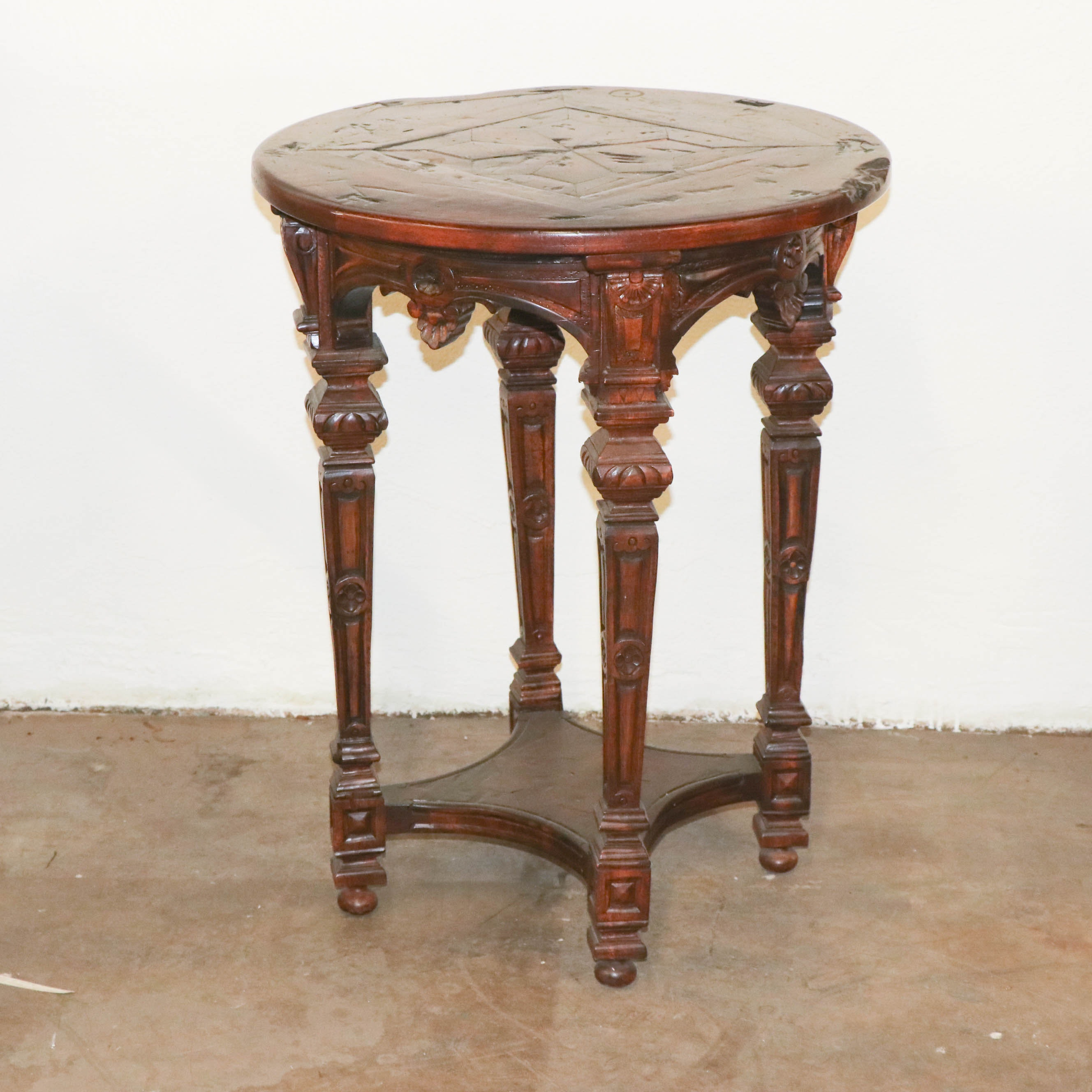 Renaissance Revival Style Occasional Table, Late 20th Century