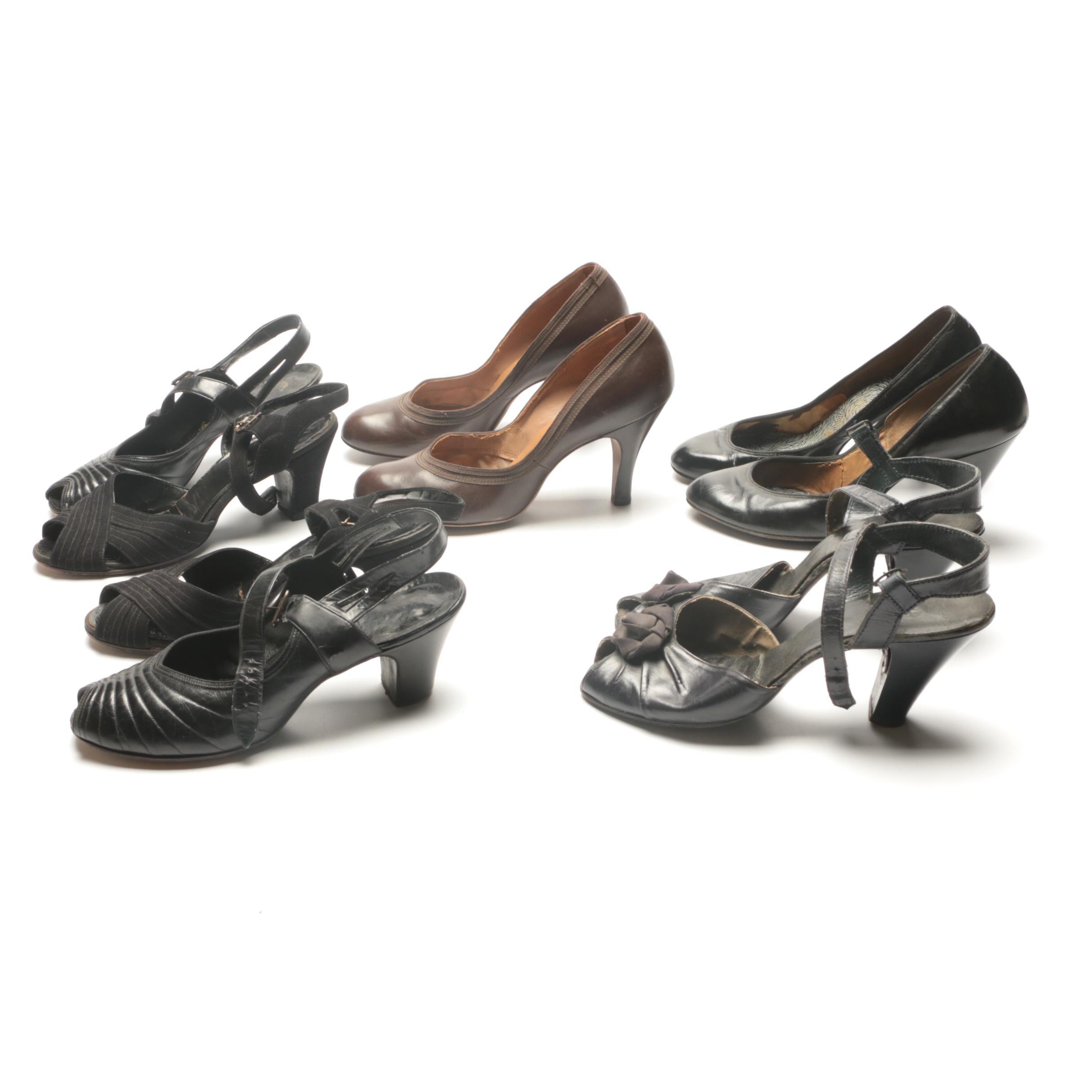 Circa 1940s High Heels Including Grace Walker and Romney