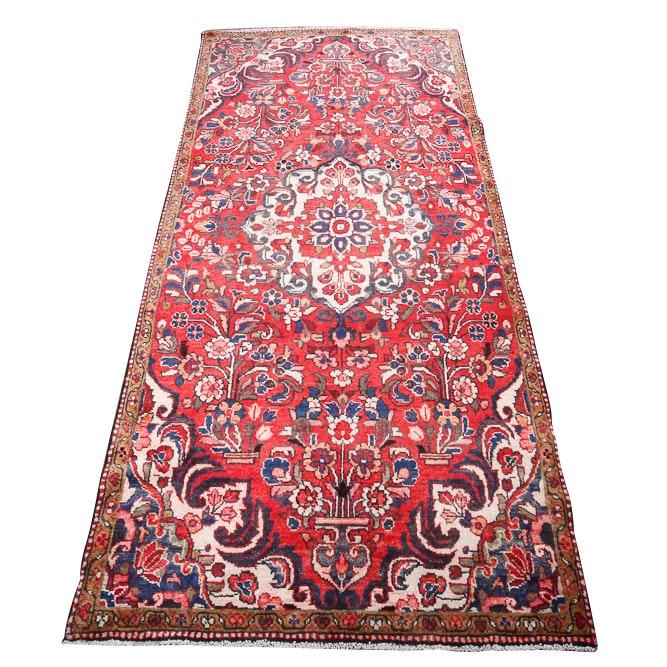 Hand-Knotted Persian Hamadan Wool Long Rug