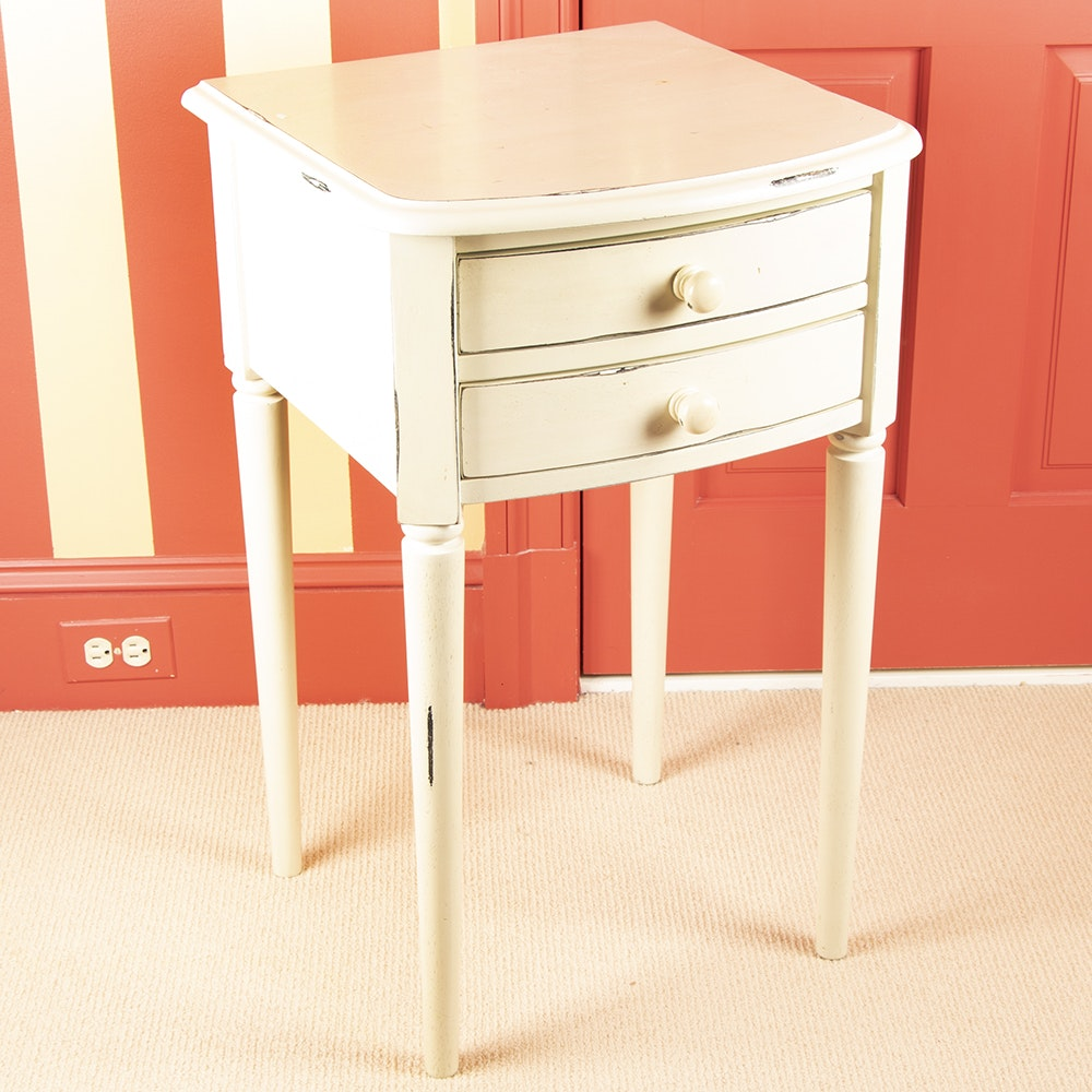 Federal Style Painted Two Drawer Side Table, 20th Century ...