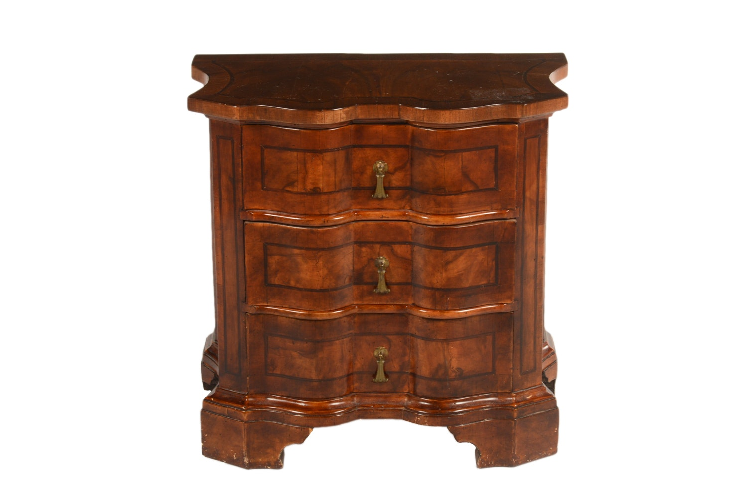George III Style Mahogany Three-Drawer Chest, 20th Century