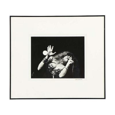 David Gahr Silver Print of Janis Joplin