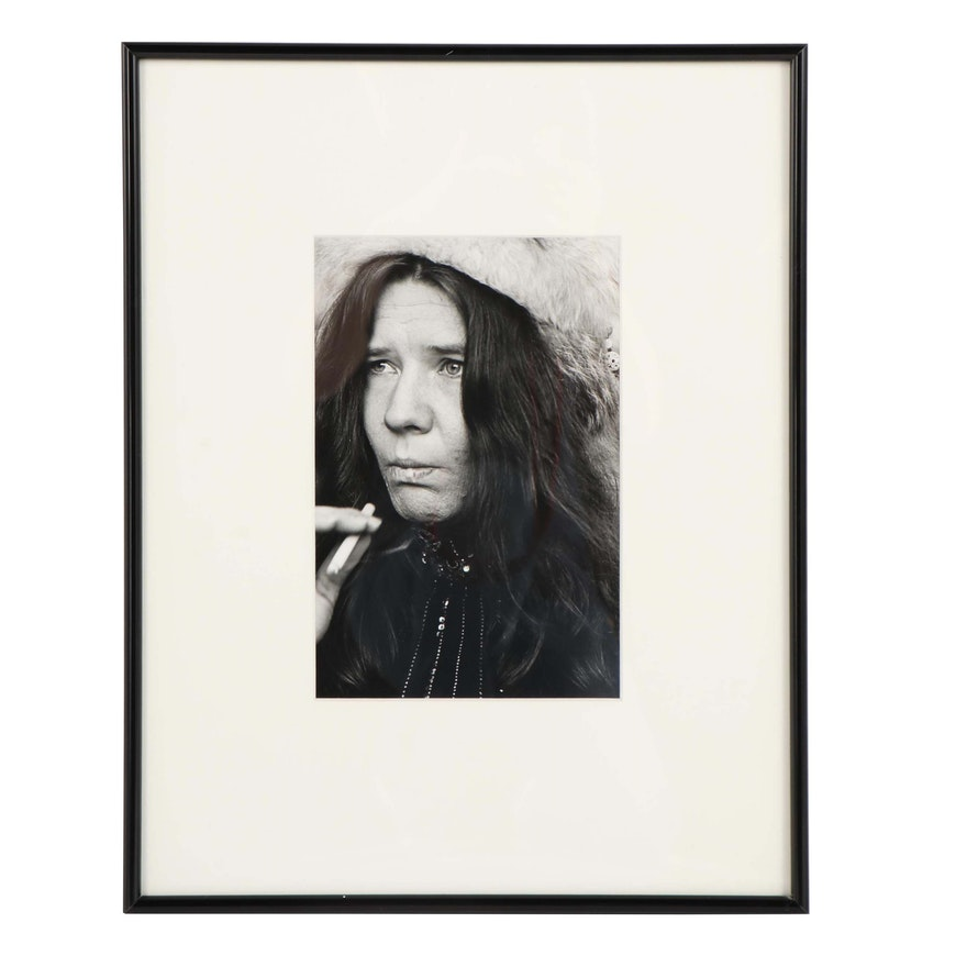 Linda McCartney Silver Print of Janis Joplin