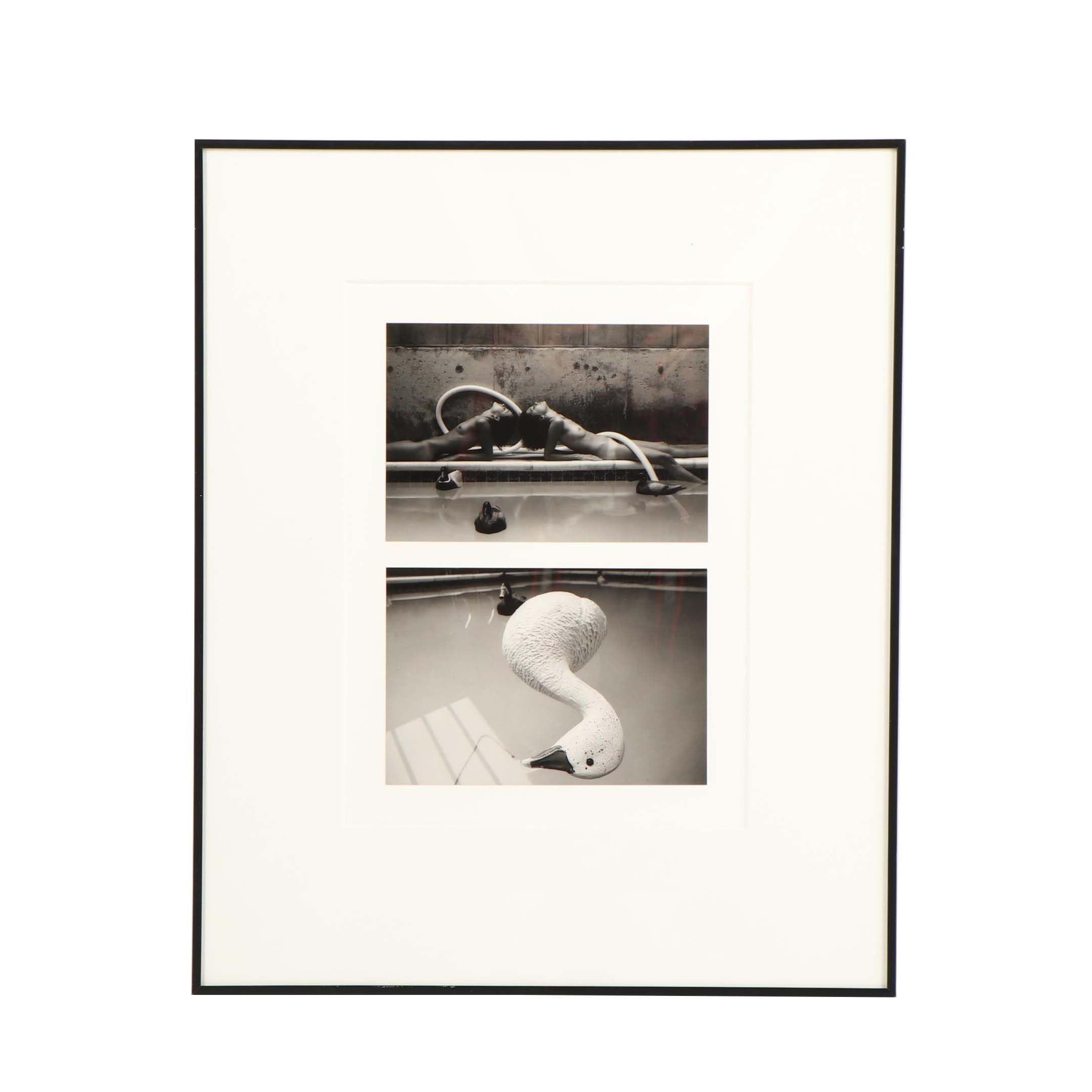 "Marsha Burns Gelatin Silver Photograph ""# 17 Snowgoose Fantasy Sequence"""