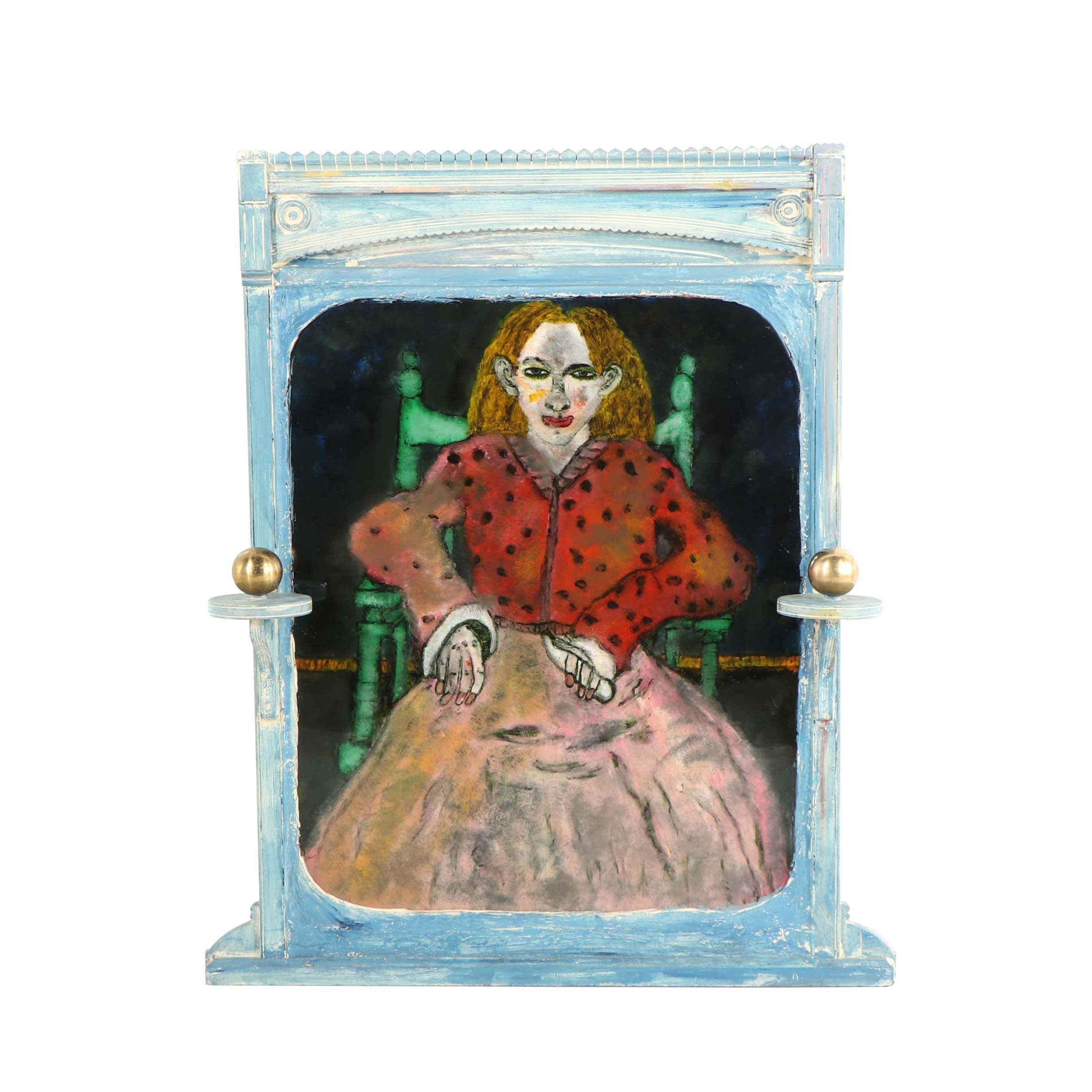 "Gregory Grenon Painting on Acrylic Glass ""I Sit Here"""