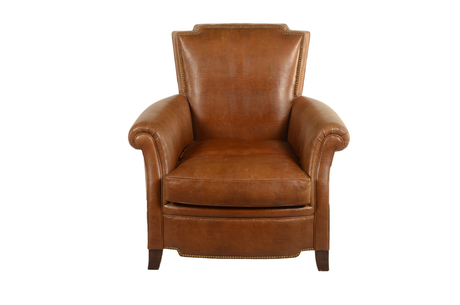 Beau Contemporary Brown Faux Leather Armchair ...