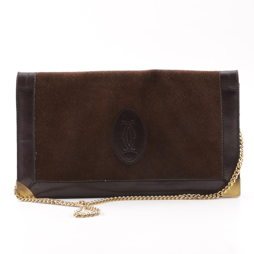 1f292a93ceb2 Vintage Brown Leather and Suede Flap Front Shoulder Bag : EBTH