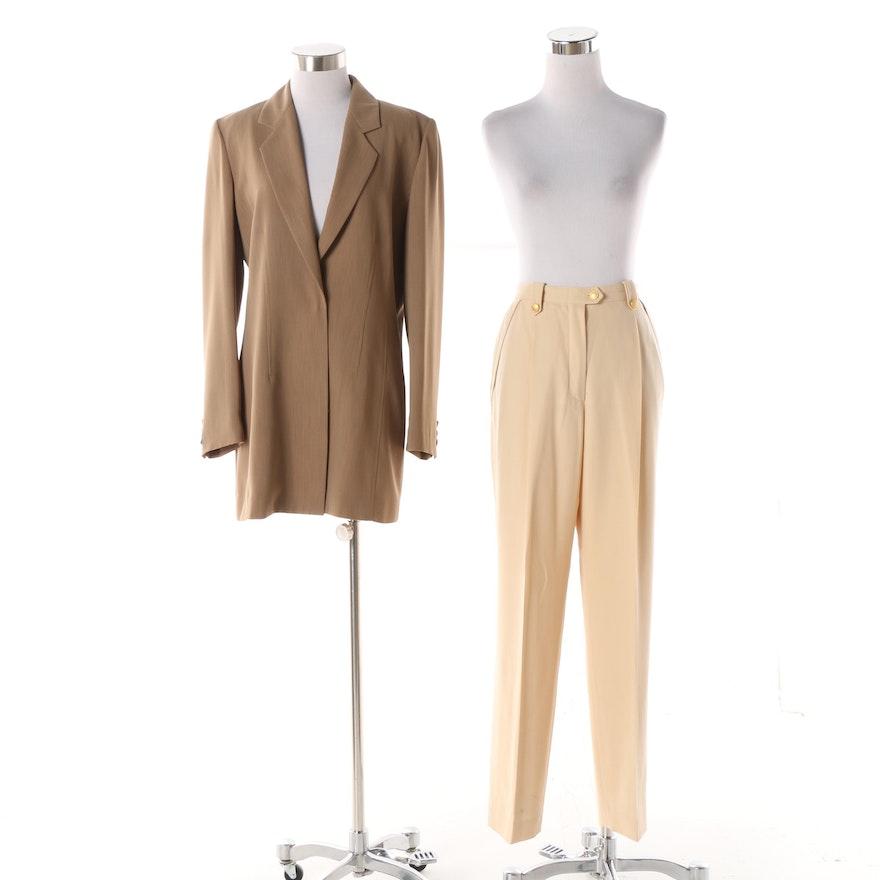 1b8269dd4c8daf Women s 1990s Vintage Halston Jacket and Escada Margaretha Ley Dress Pants    EBTH