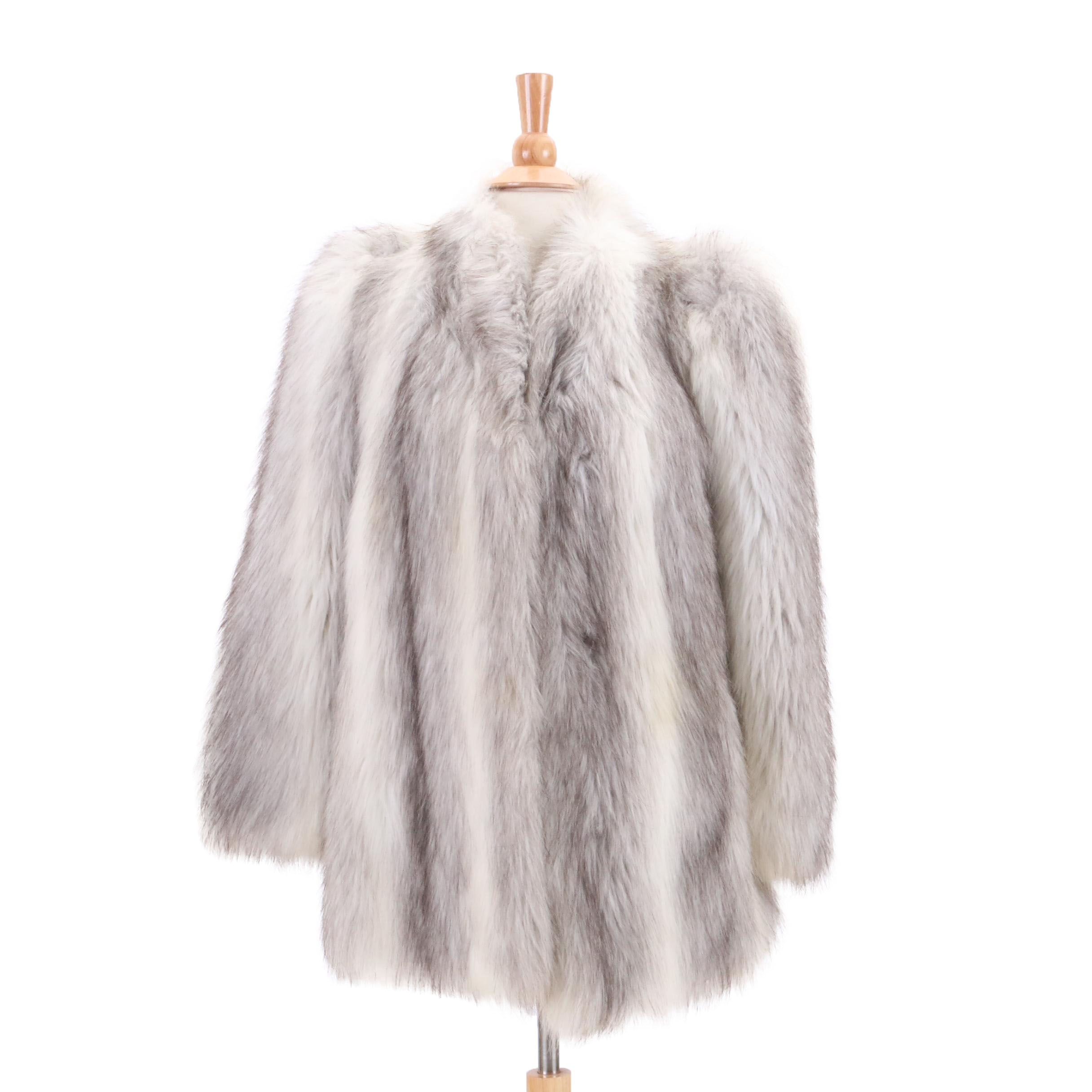 Casper Faux Fox Fur Coat