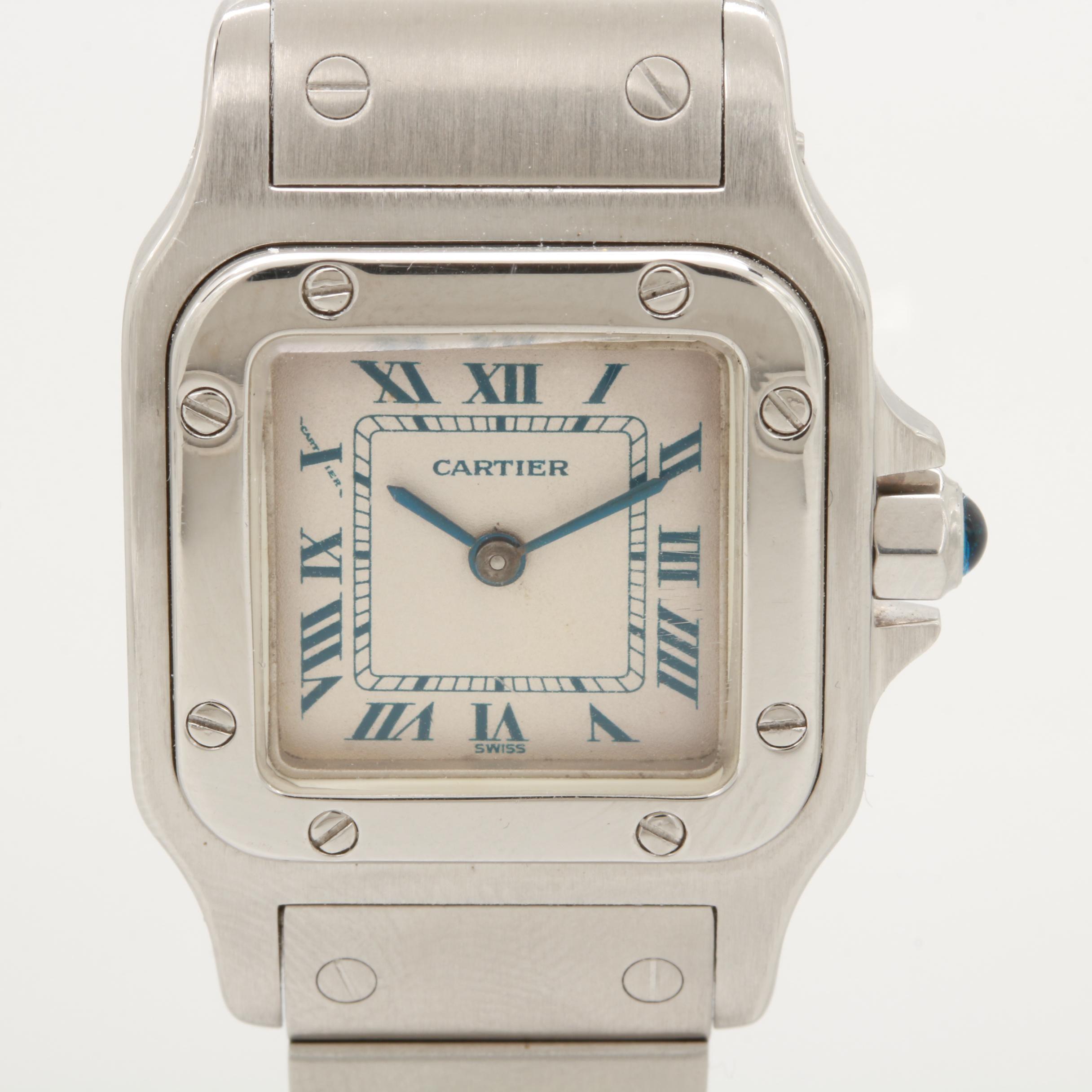 Cartier Santos Stainless Steel 1565 Wristwatch