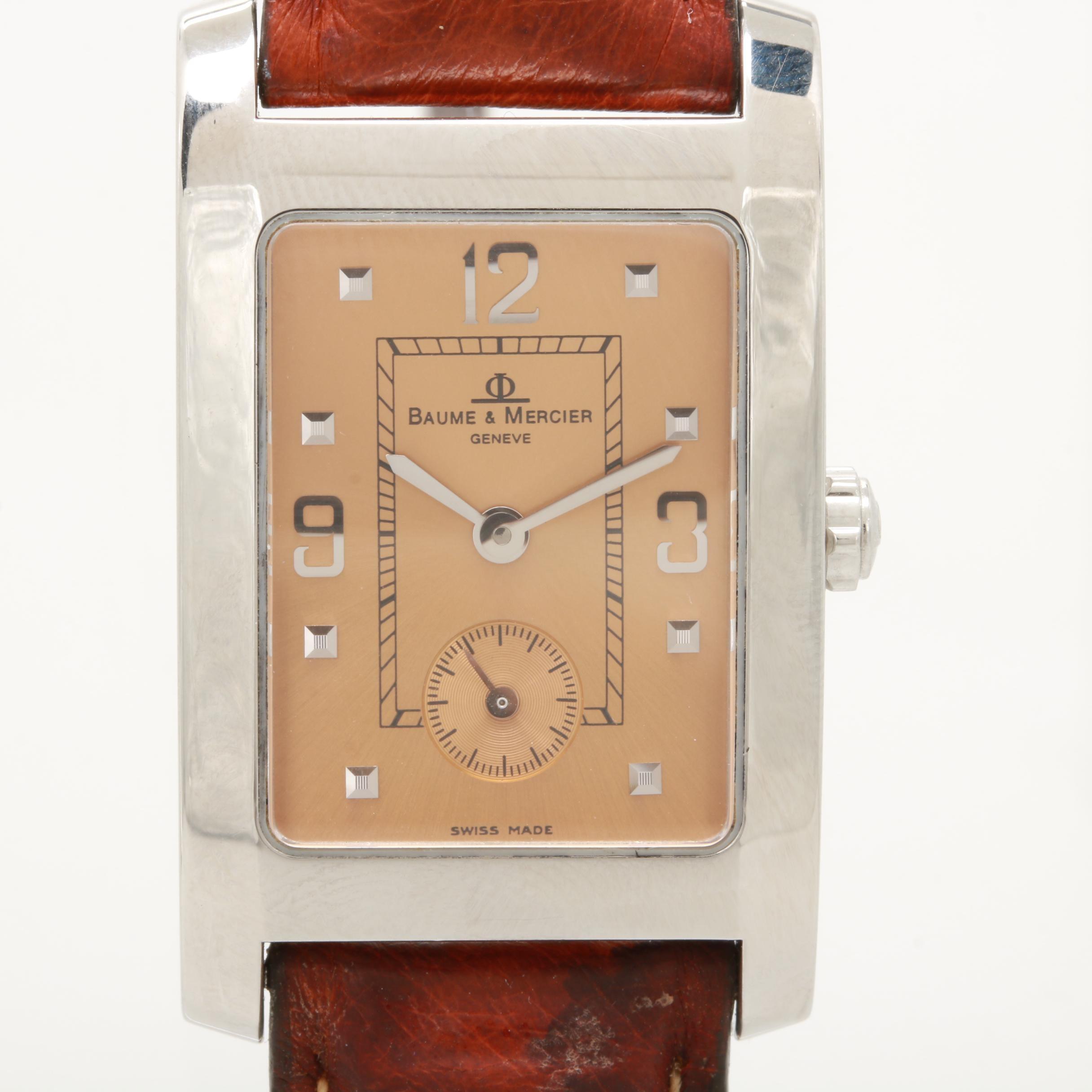 "Baume & Mercier ""Hampton"" Stainless Steel Wristwatch"