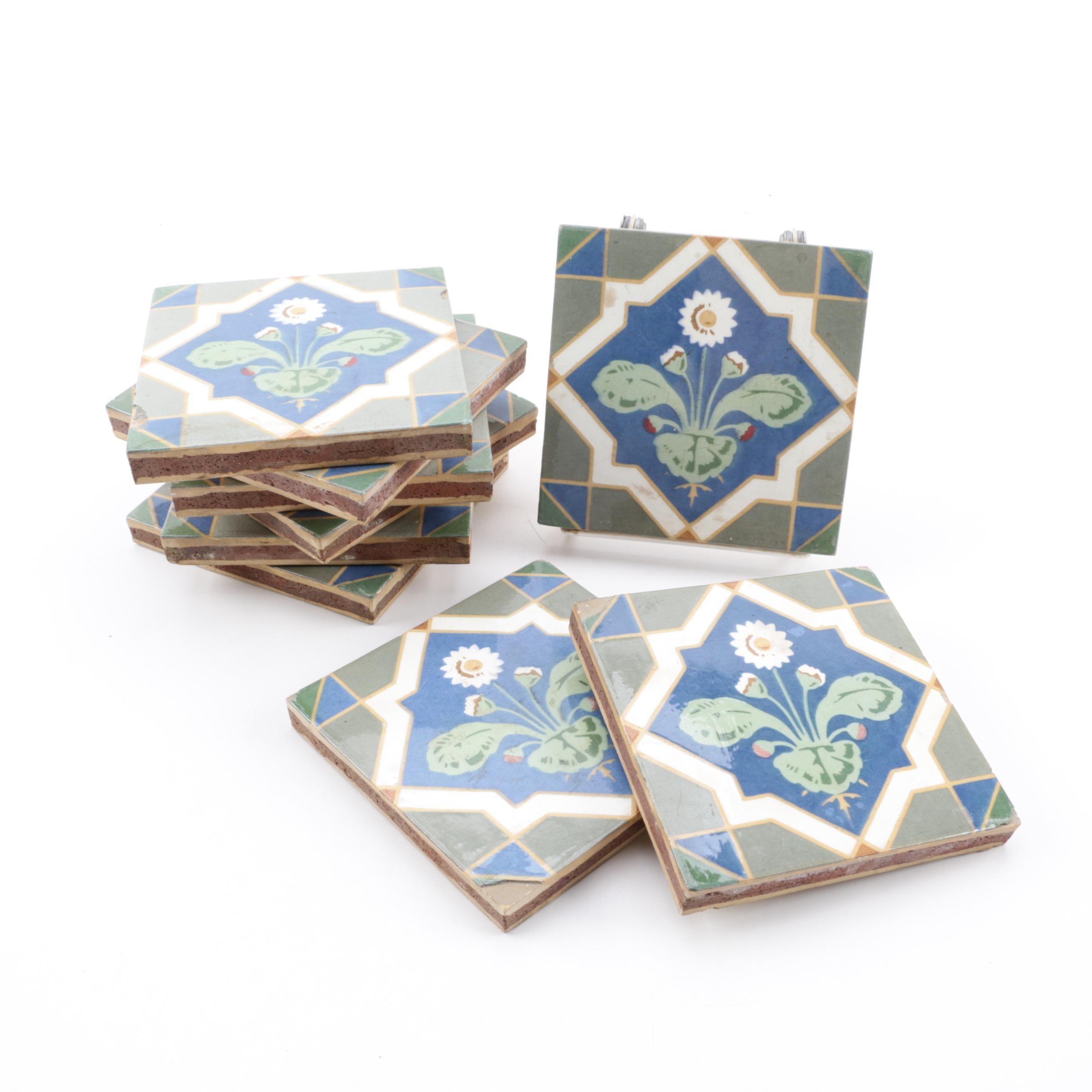 Rare Robert Minton Taylor Earthenware Encaustic Sandwich Tiles
