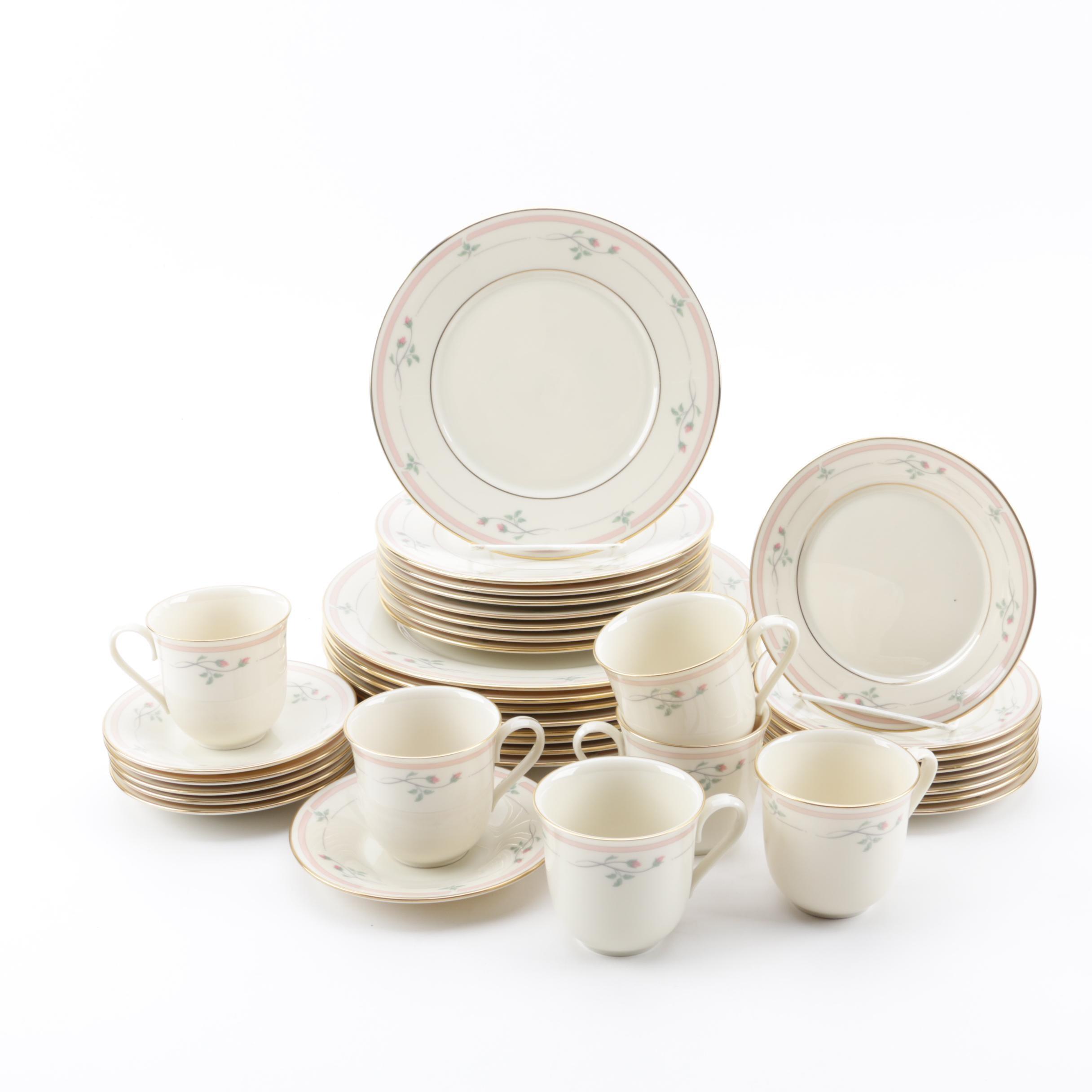 """Lenox """"Rose Manor"""" Porcelain Dinnerware Ca. 1985 -1999"""