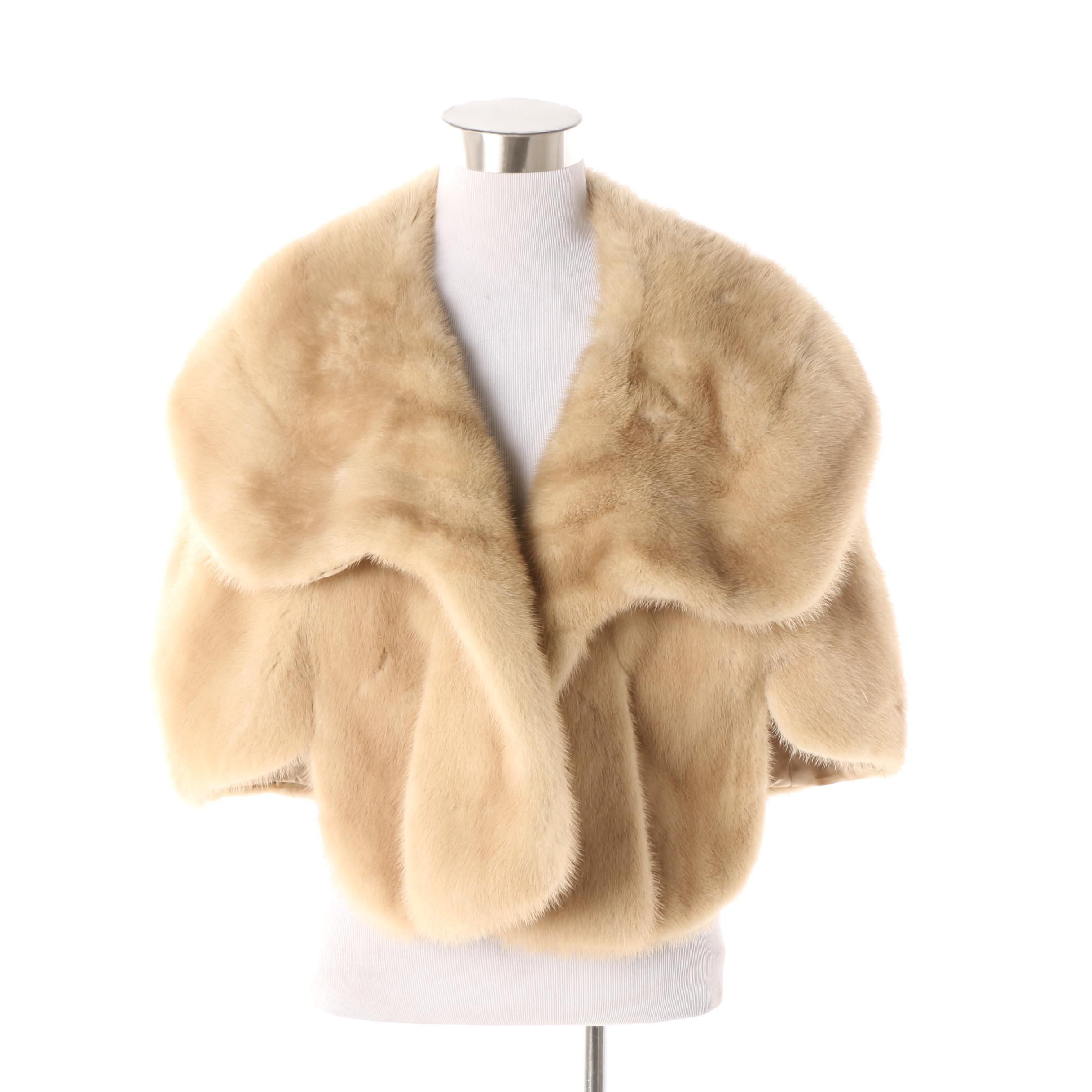 Women's Vintage Geller Blonde Mink Fur Stole