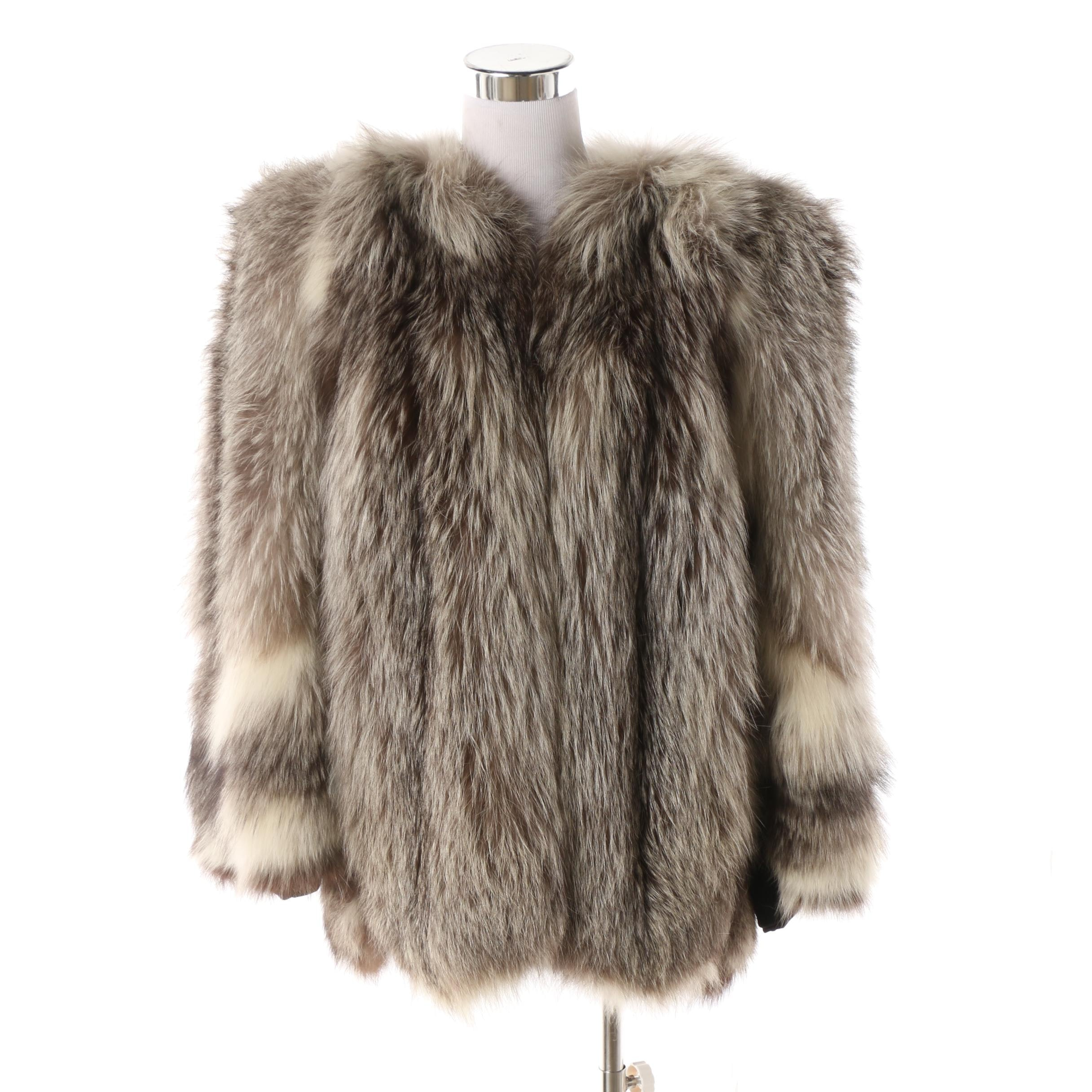 Women's Vintage Silver Fox Fur Coat