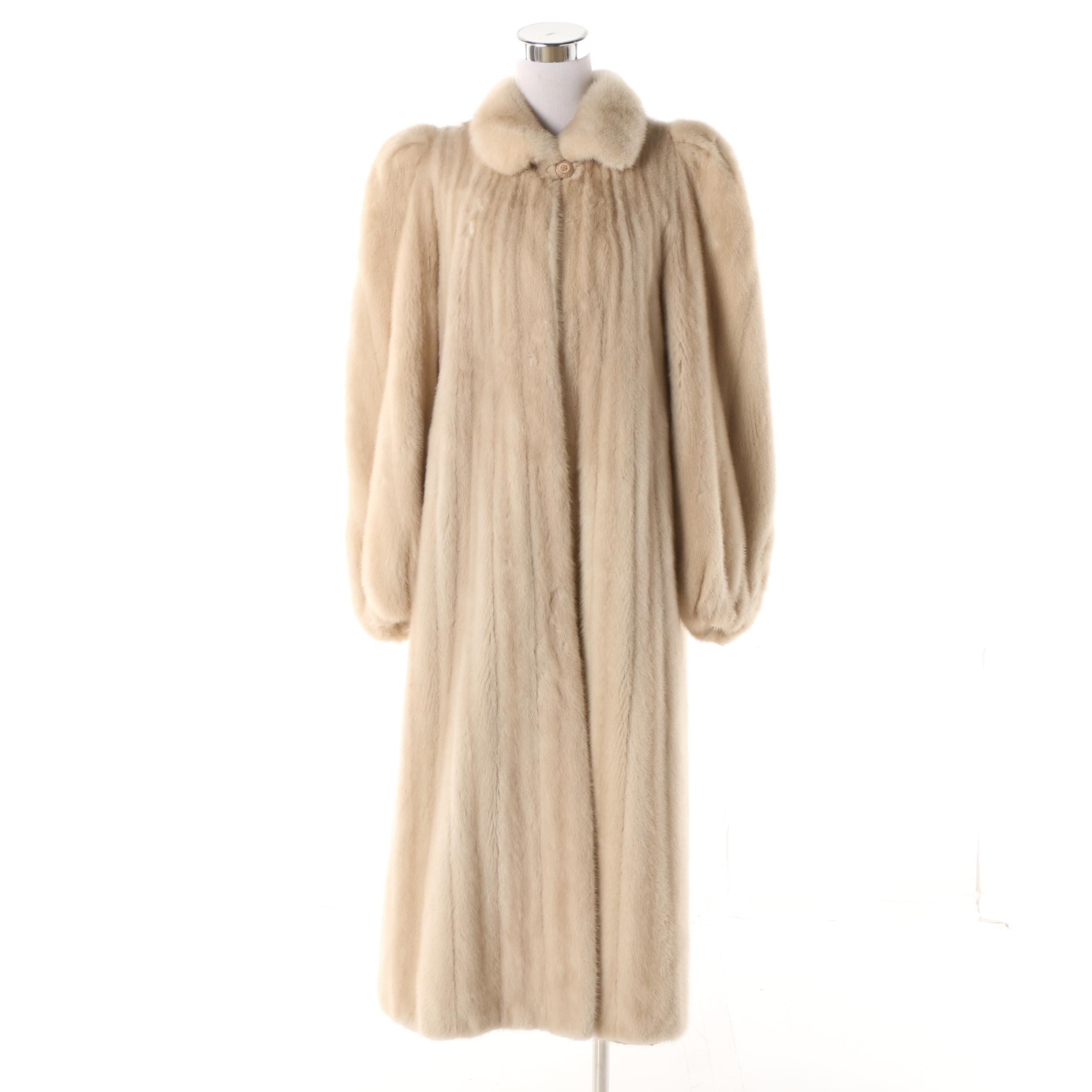 Women's Vintage Dimitrios New York Blonde Mink Fur Coat